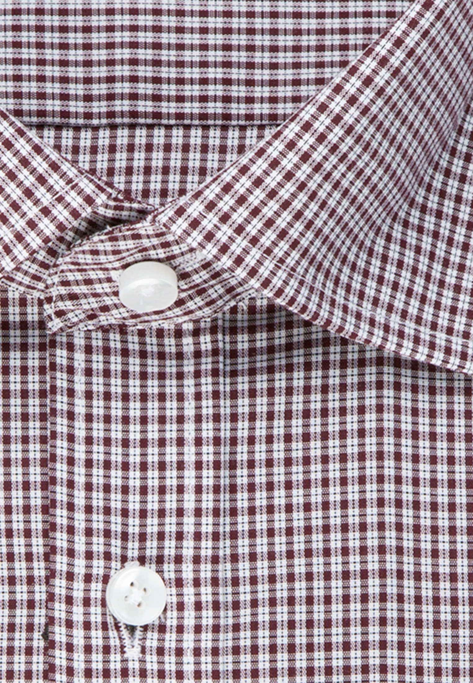Bügelfreies Popeline Business Hemd in Comfort mit Covered-Button-Down-Kragen in Rot |  Seidensticker Onlineshop