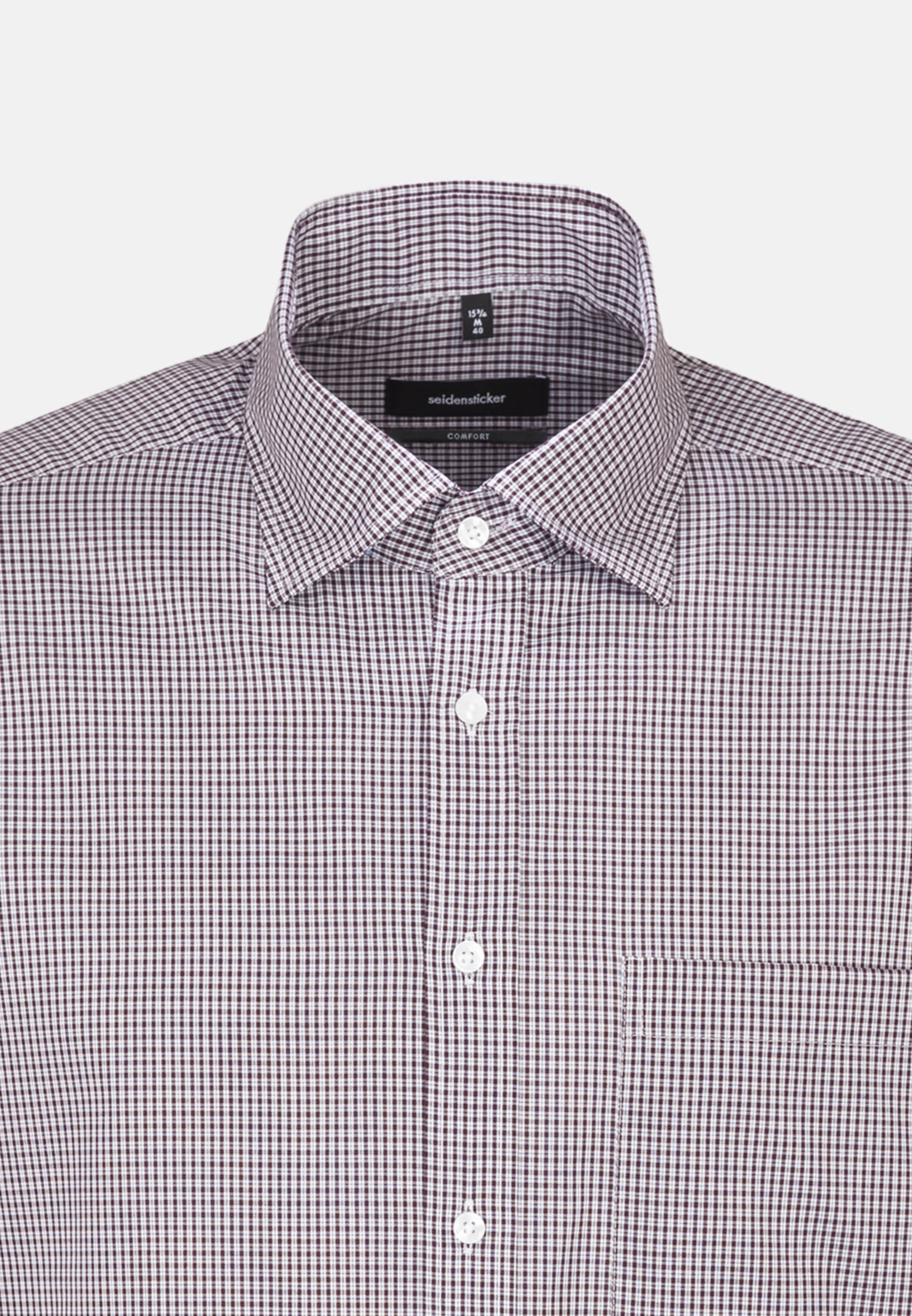 Non-iron Poplin Business Shirt in Comfort with Covered-Button-Down-Collar in rot    Seidensticker Onlineshop