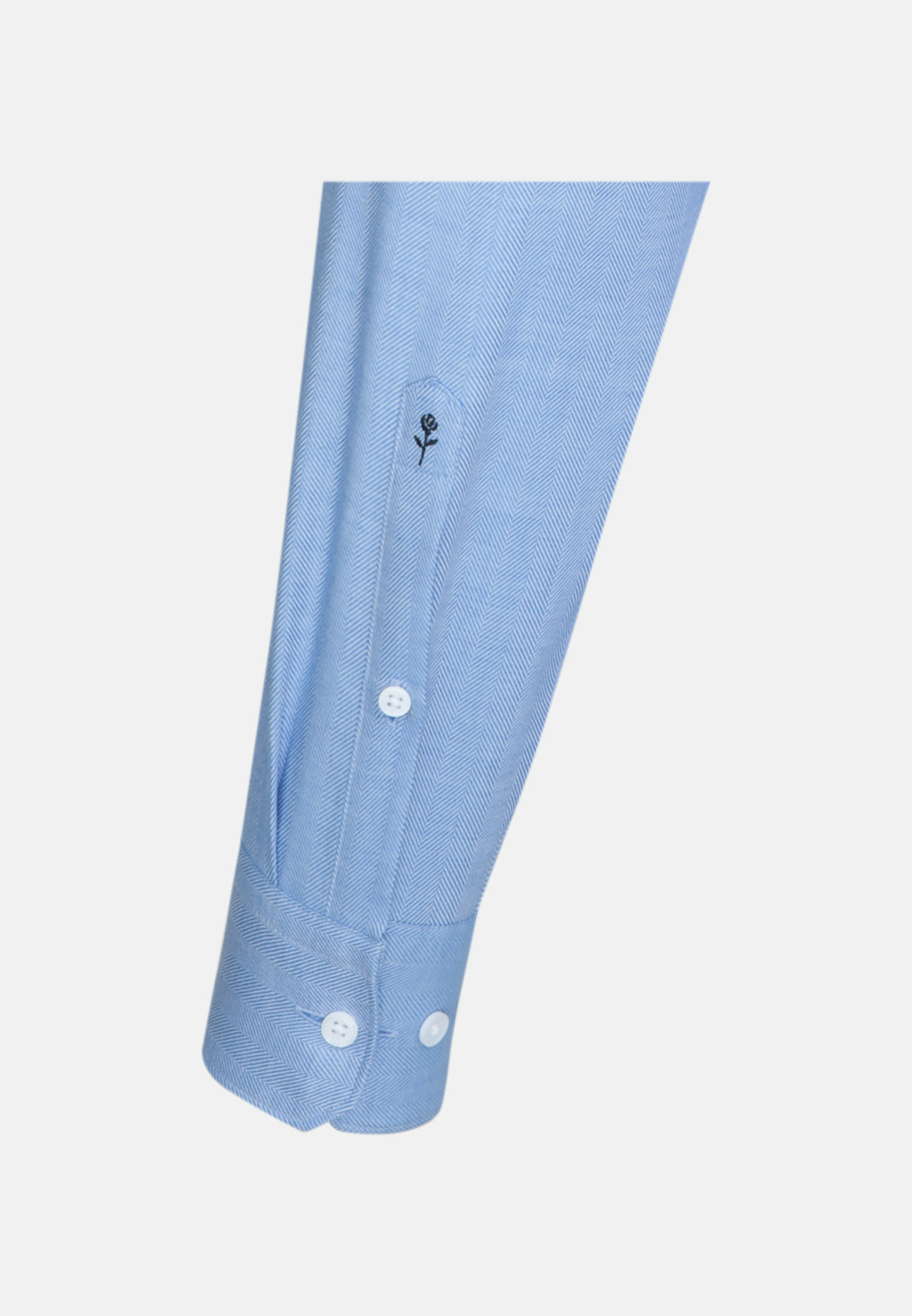 Easy-iron Herringbone pattern Business Shirt in Tailored with Kent-Collar in Light blue |  Seidensticker Onlineshop