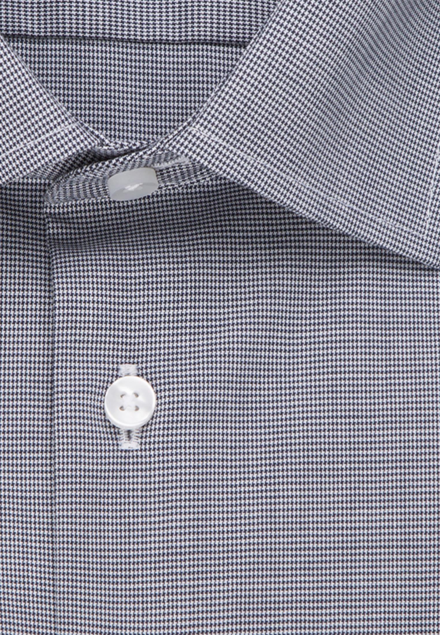 Non-iron Pepita/tooth-peg check Business Shirt in Slim with Kent-Collar in Dark blue |  Seidensticker Onlineshop