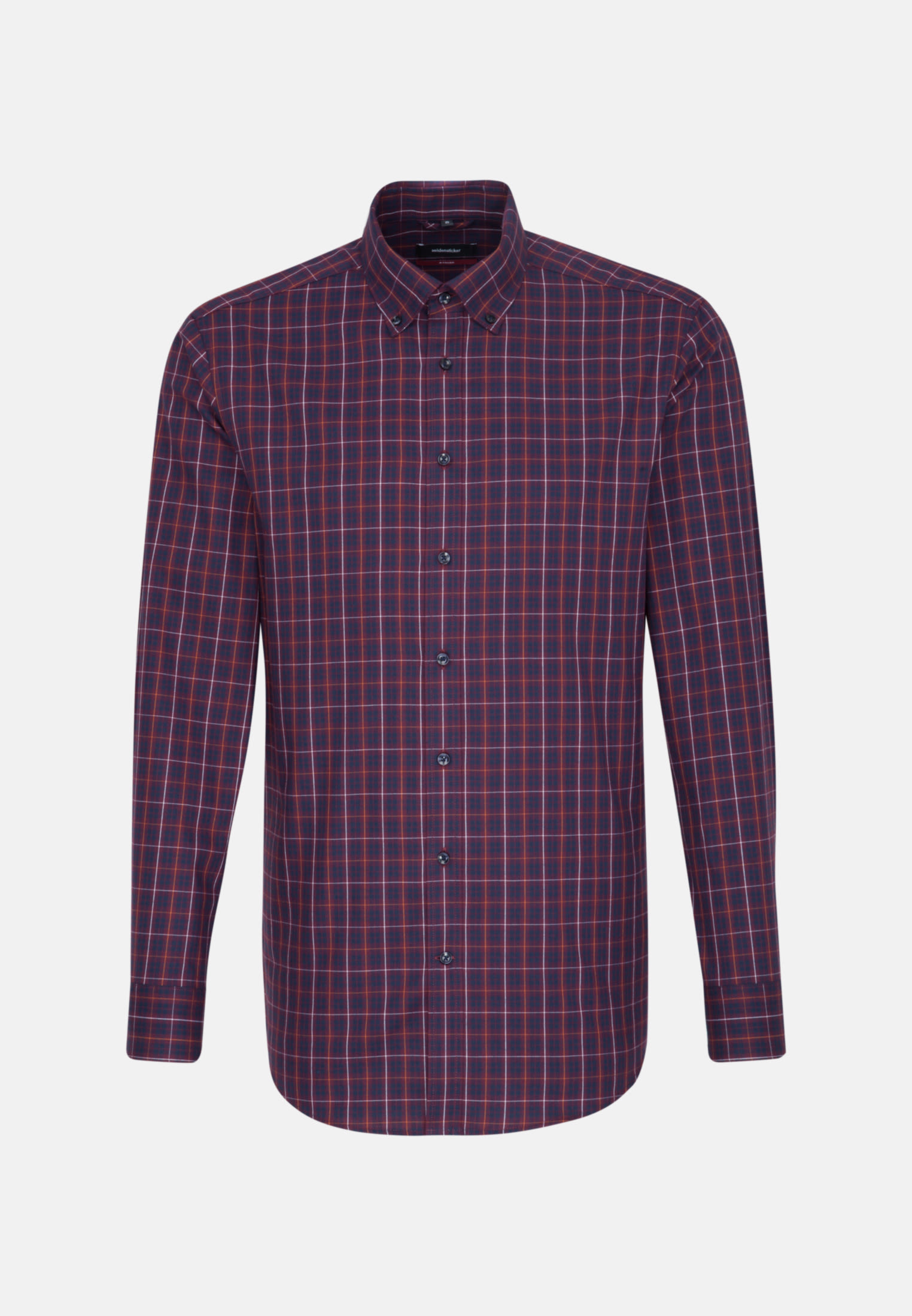 Bügelleichtes Twill Business Hemd in Regular mit Button-Down-Kragen in Rot |  Seidensticker Onlineshop