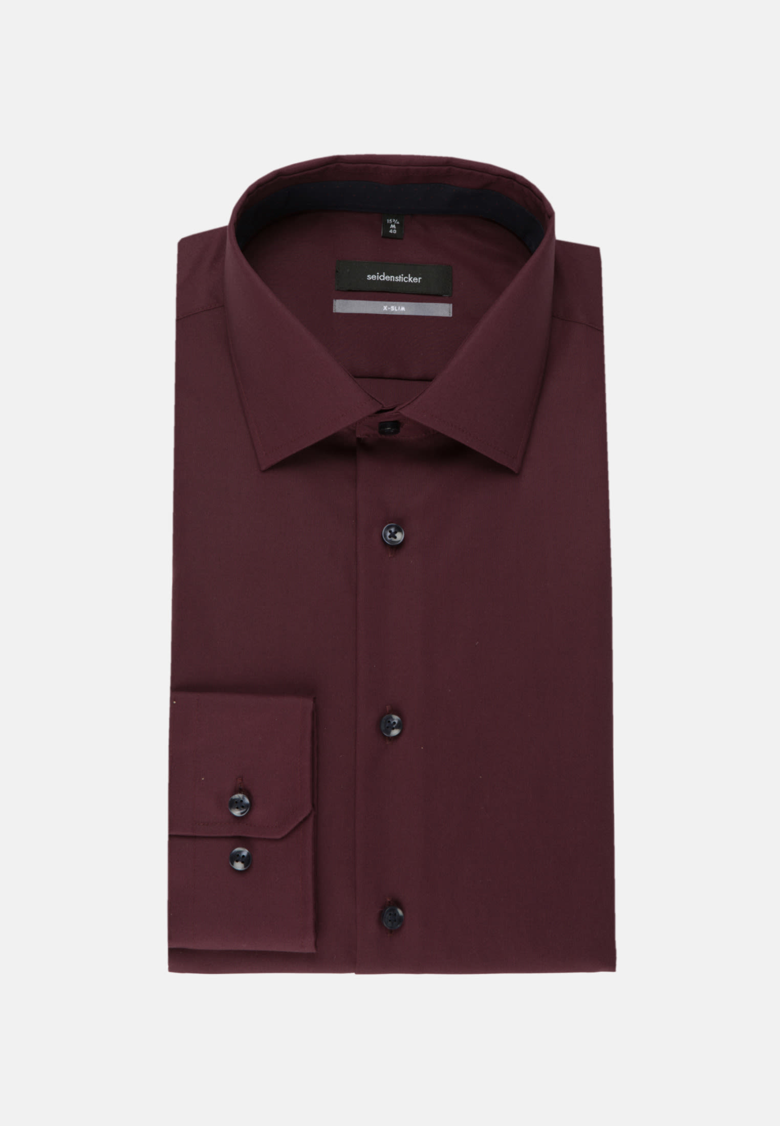 Non-iron Poplin Business Shirt in X-Slim with Kent-Collar in Red |  Seidensticker Onlineshop