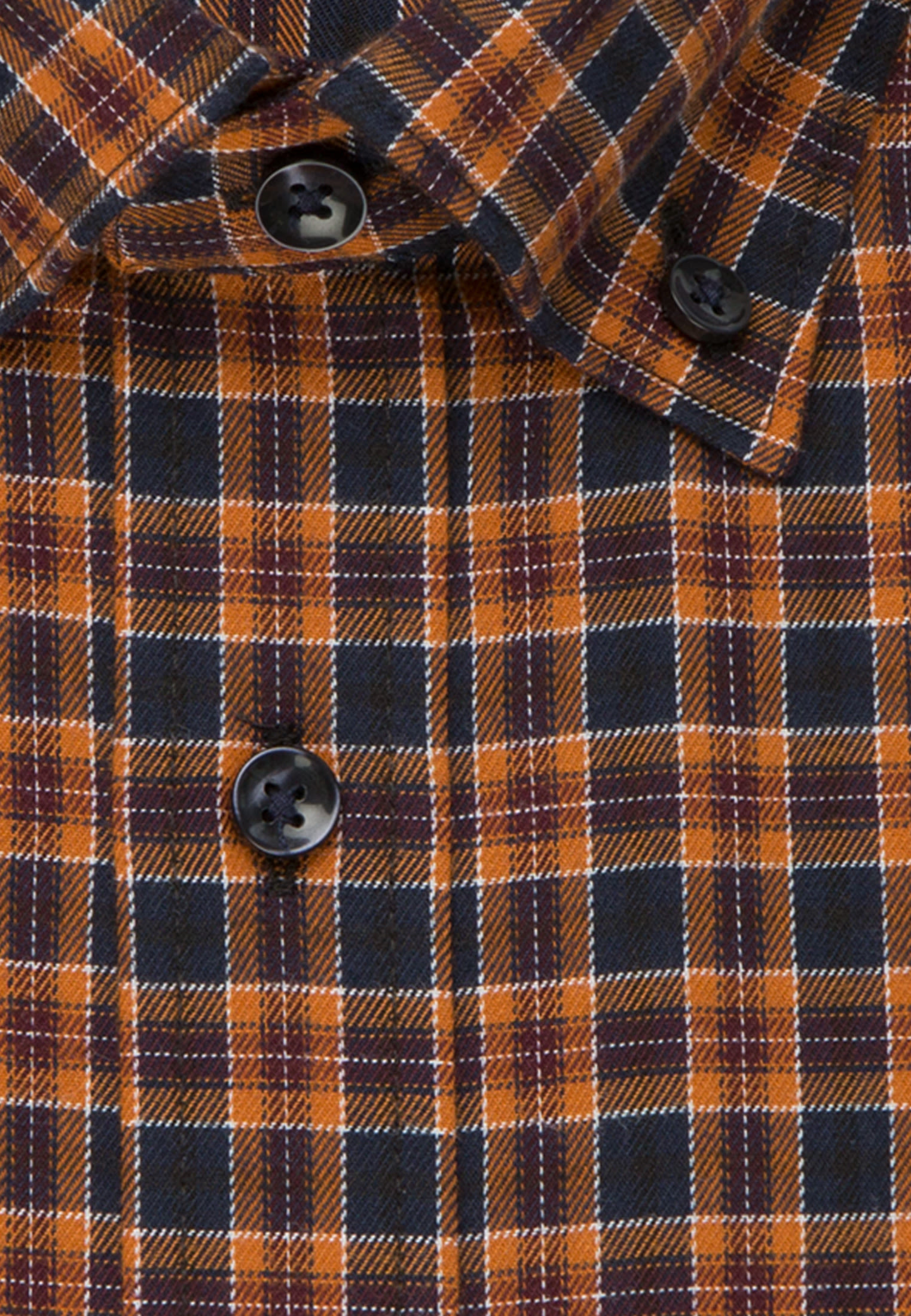 Easy-iron Twill Business Shirt in Regular with Button-Down-Collar in Orange |  Seidensticker Onlineshop