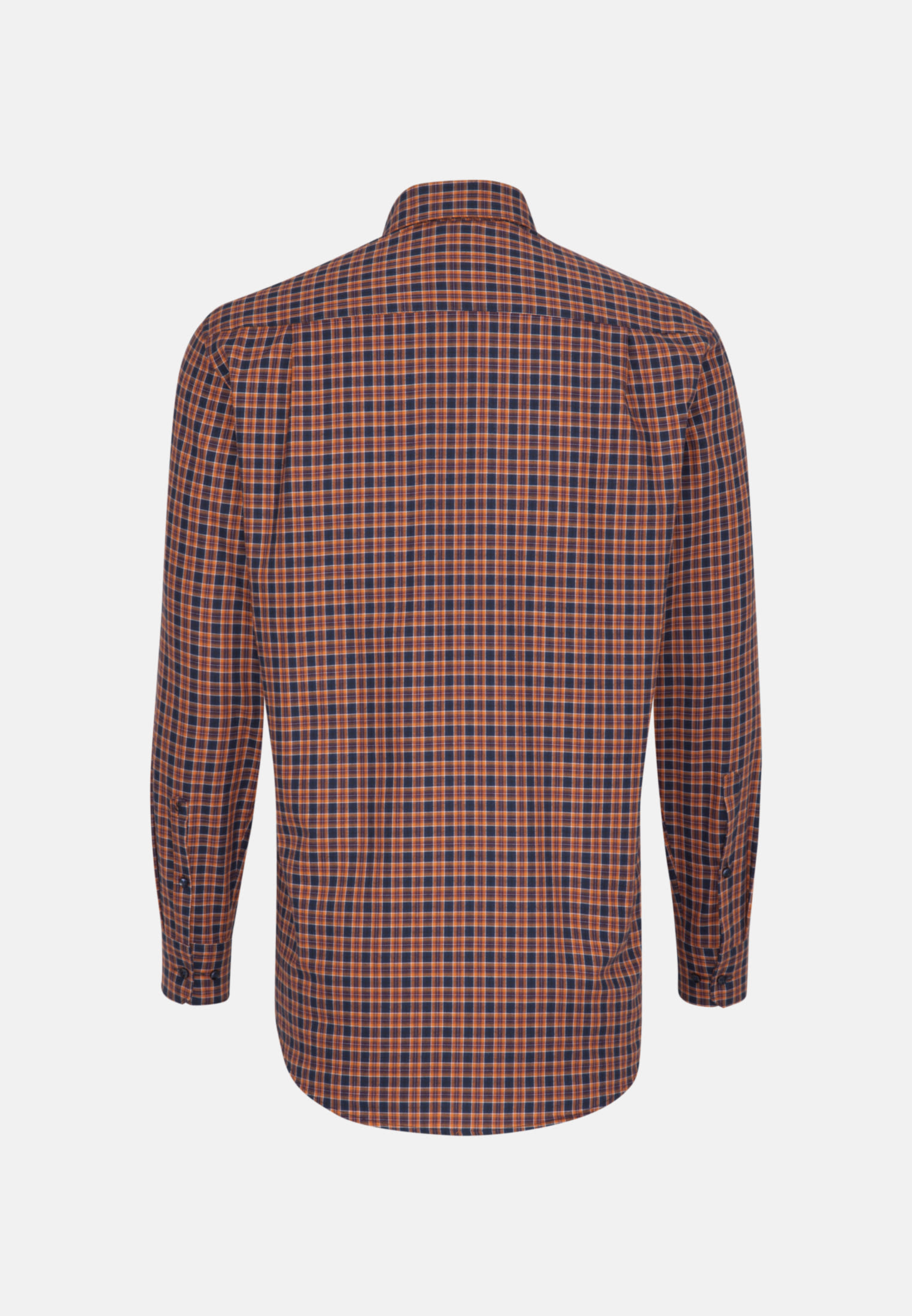 Bügelleichtes Twill Business Hemd in Regular mit Button-Down-Kragen in Orange |  Seidensticker Onlineshop