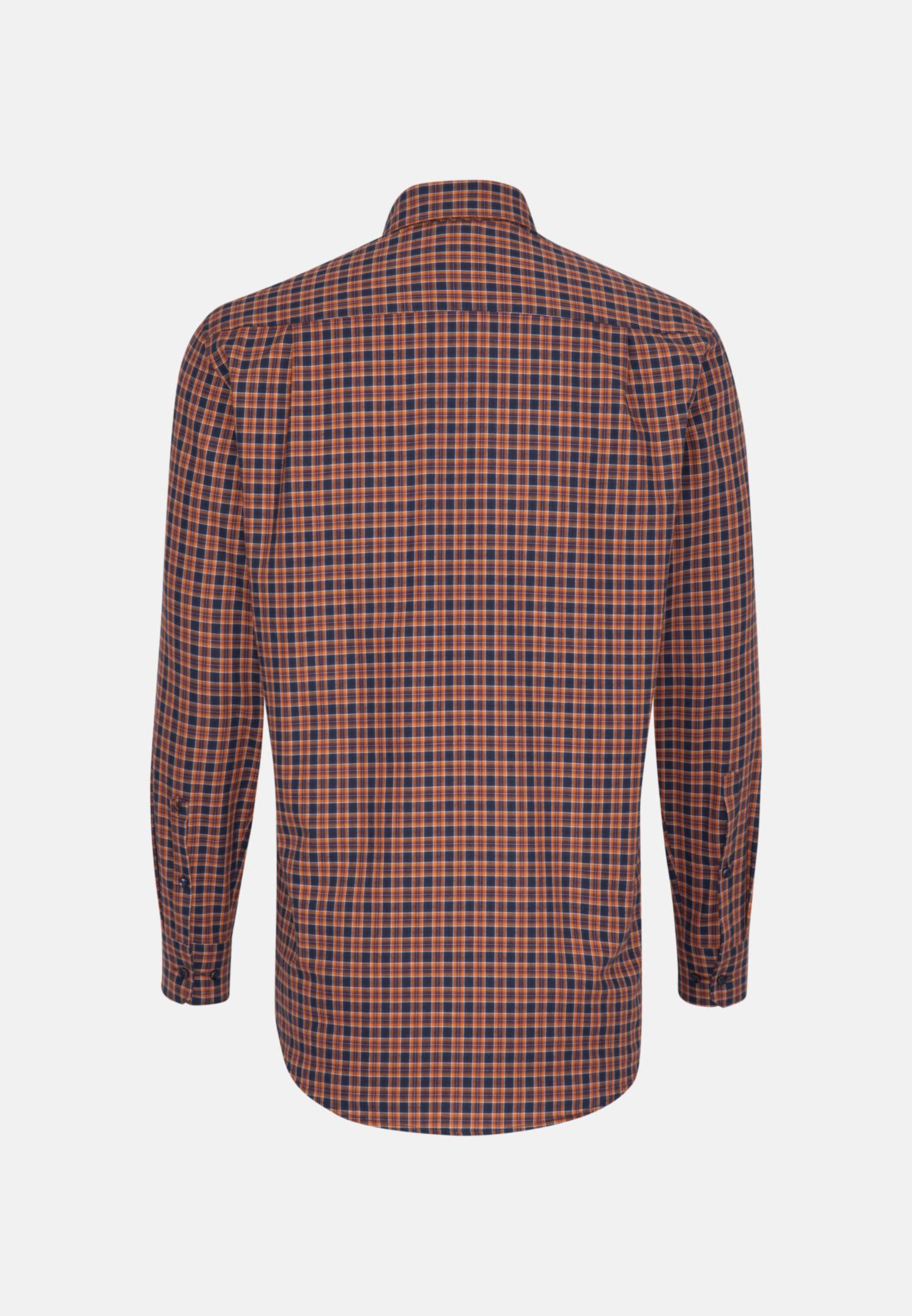 Easy-iron Twill Business Shirt in Regular with Button-Down-Collar in Orange |  Seidensticker Onlineshop