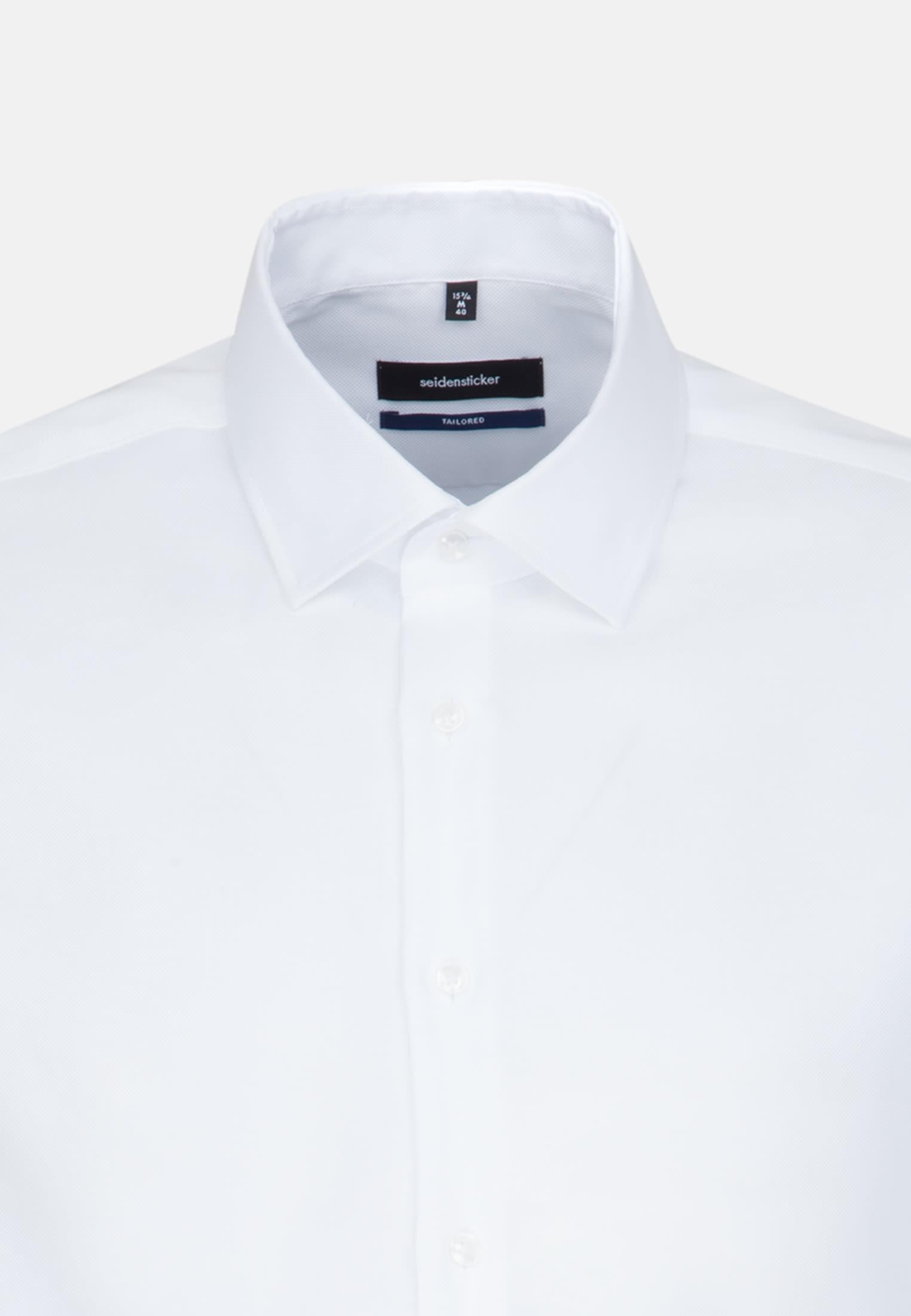 Easy-iron Oxford Business Shirt in Tailored with Kent-Collar in weiß    Seidensticker Onlineshop