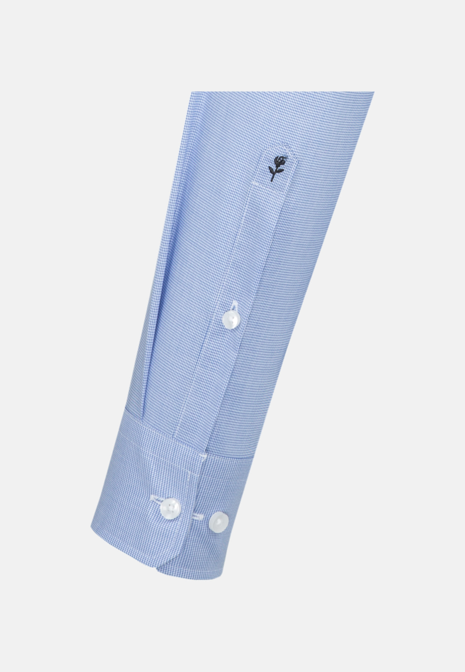Non-iron Pepita/tooth-peg check Business Shirt in Shaped with Kent-Collar in Light blue |  Seidensticker Onlineshop
