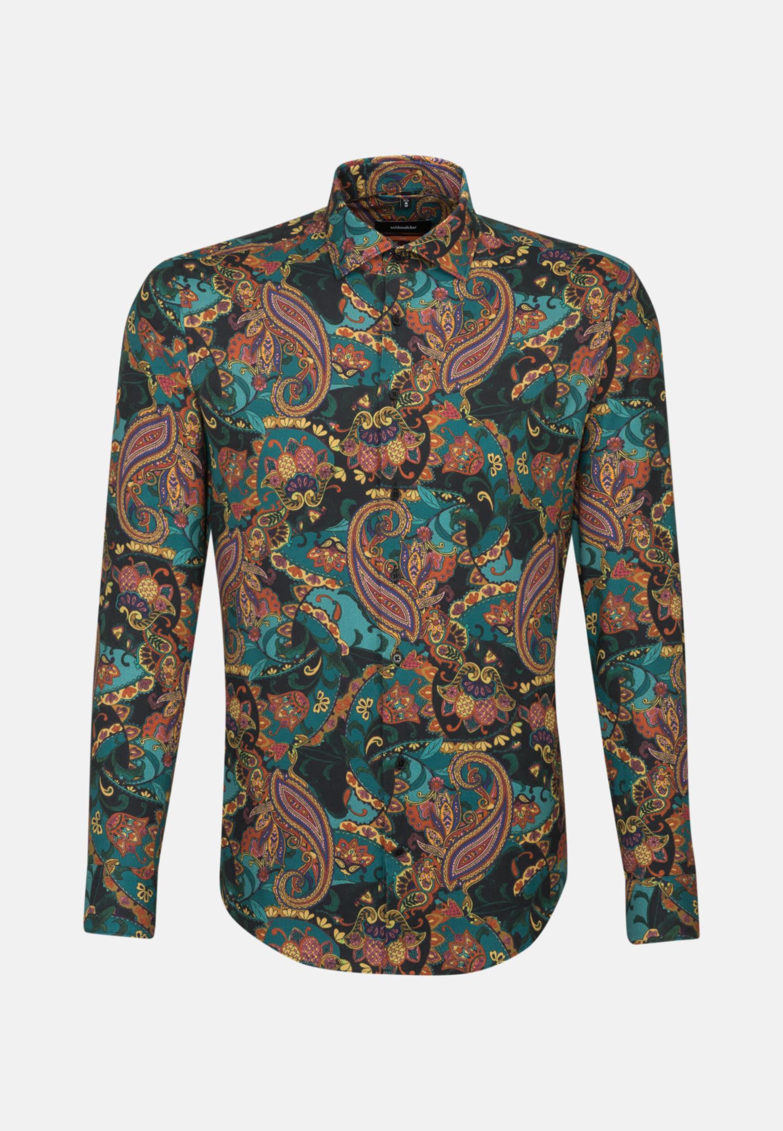Easy-iron Twill Business Shirt in Slim with Kent-Collar in orange |  Seidensticker Onlineshop