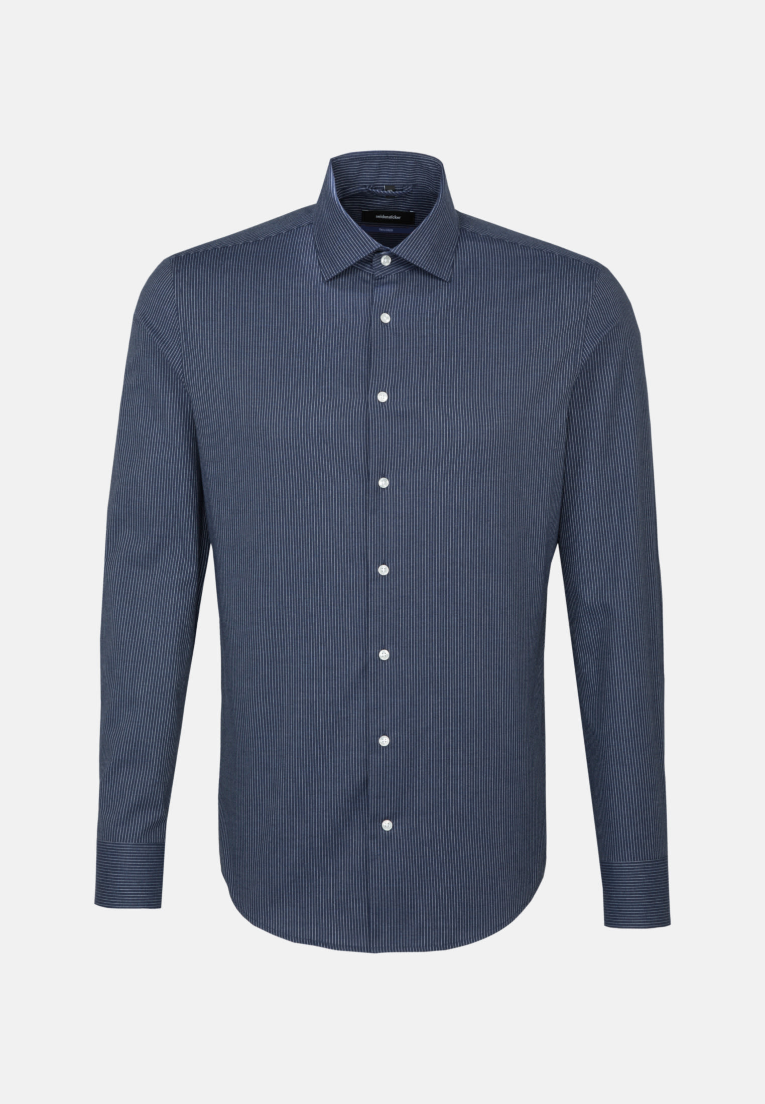 Easy-iron Twill Business Shirt in Shaped with Kent-Collar in Dark blue |  Seidensticker Onlineshop