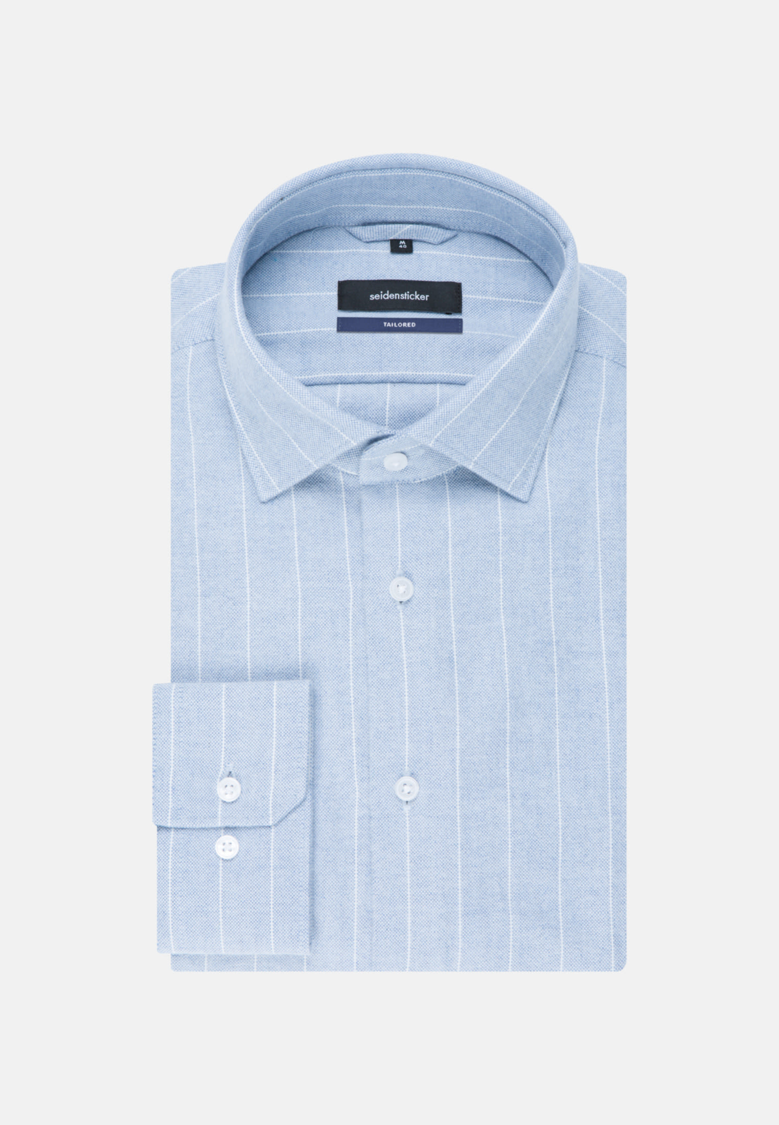 Easy-iron Oxford Business Shirt in Tailored with Kent-Collar in blau |  Seidensticker Onlineshop