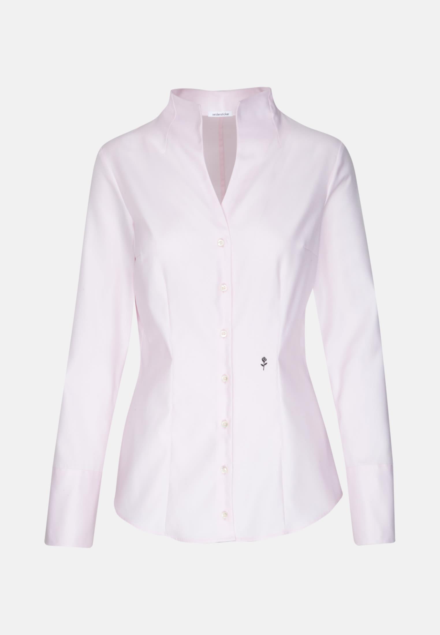 Twill Kelchkragenbluse aus 100% Baumwolle in Rosa/Pink |  Seidensticker Onlineshop