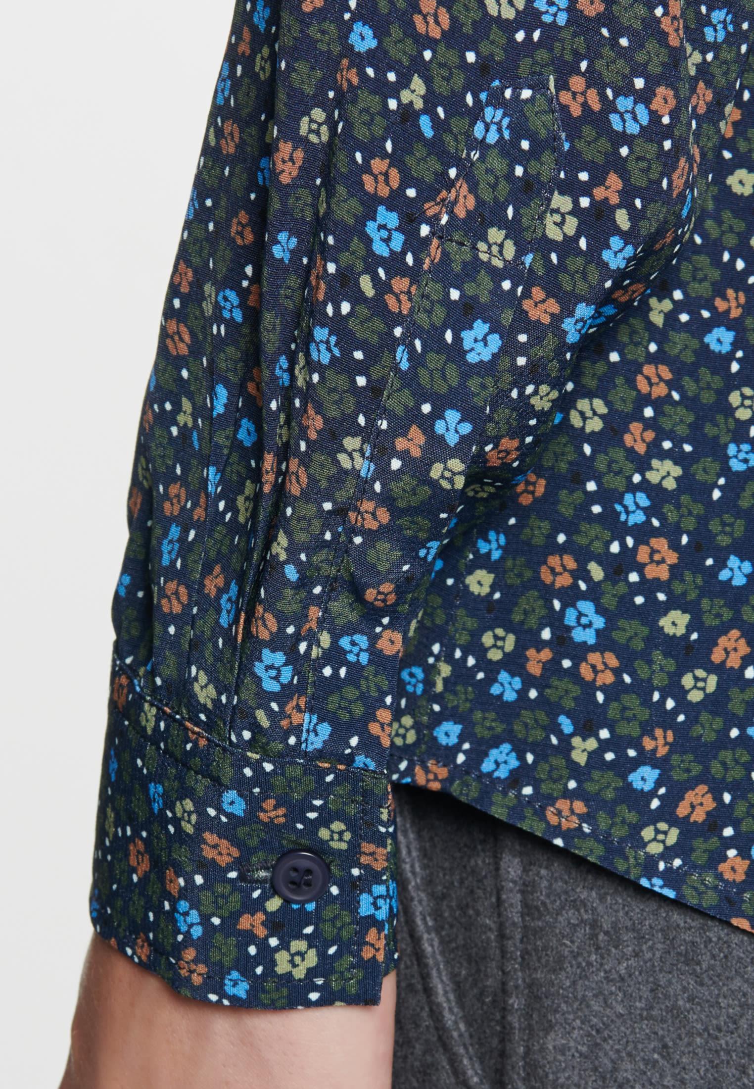 Chiffon Hemdbluse aus 100% Viskose in Dunkelblau |  Seidensticker Onlineshop