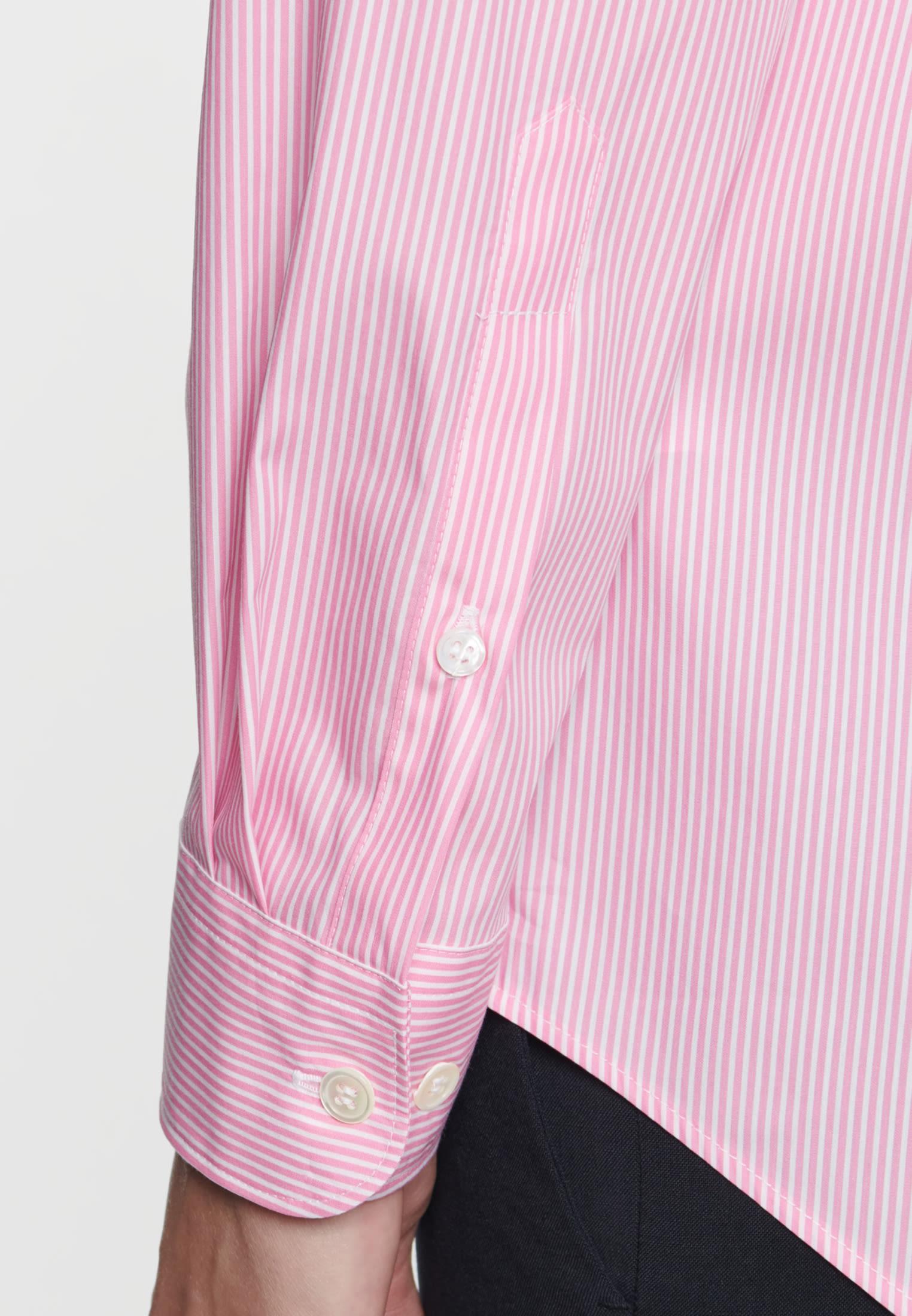 Poplin Shirt Blouse made of cotton blend in Red |  Seidensticker Onlineshop