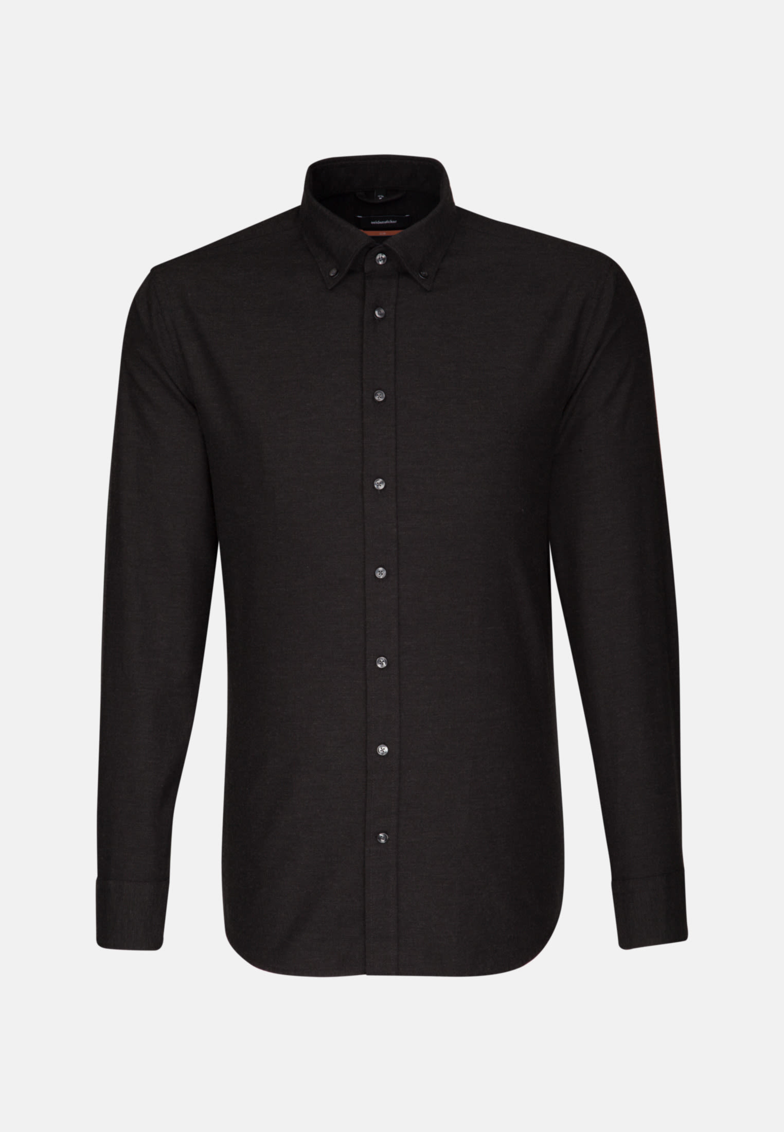 Easy-iron Twill Business Shirt in Slim with Button-Down-Collar in Black |  Seidensticker Onlineshop