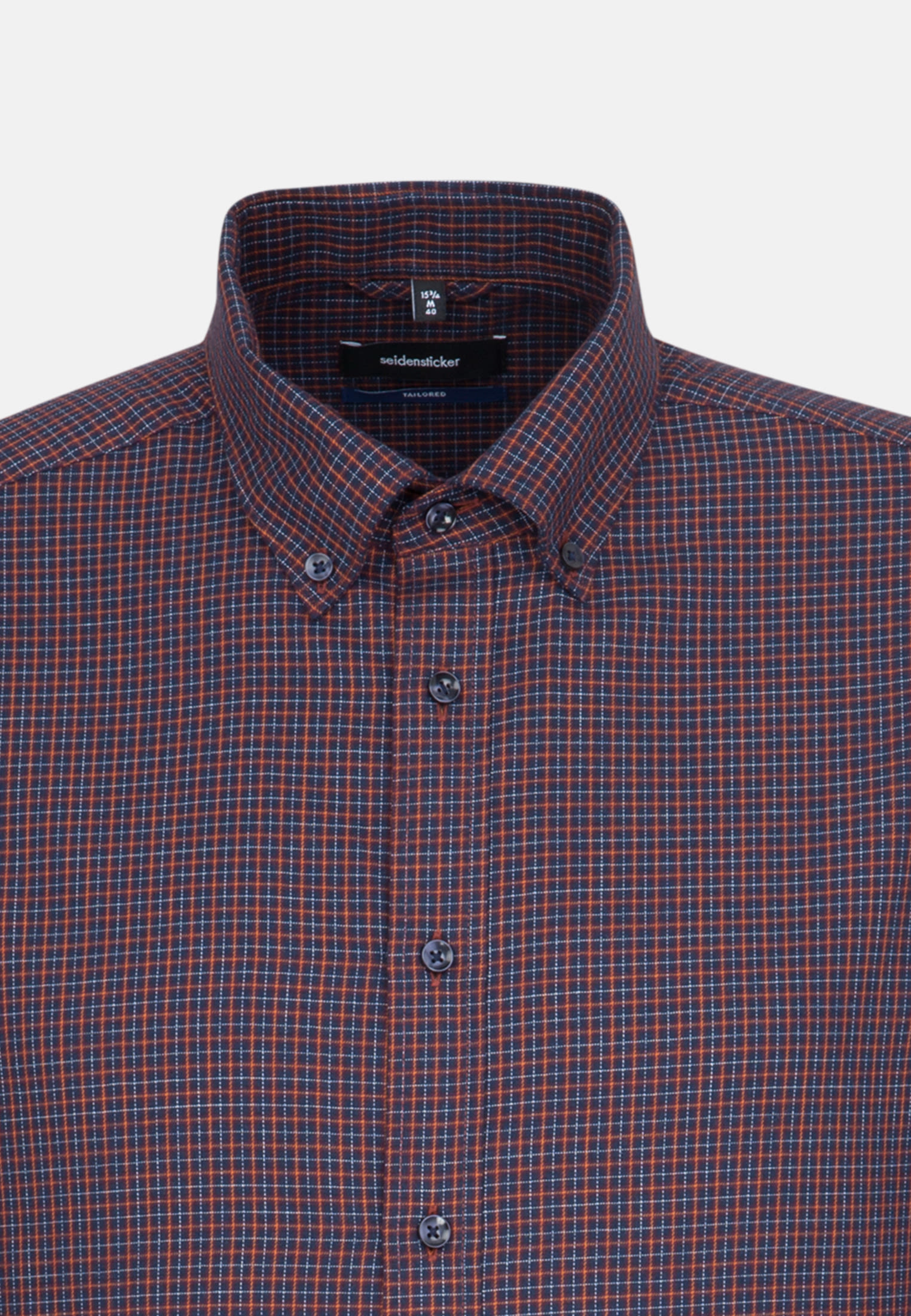 Easy-iron Twill Business Shirt in Tailored with Button-Down-Collar in Red |  Seidensticker Onlineshop