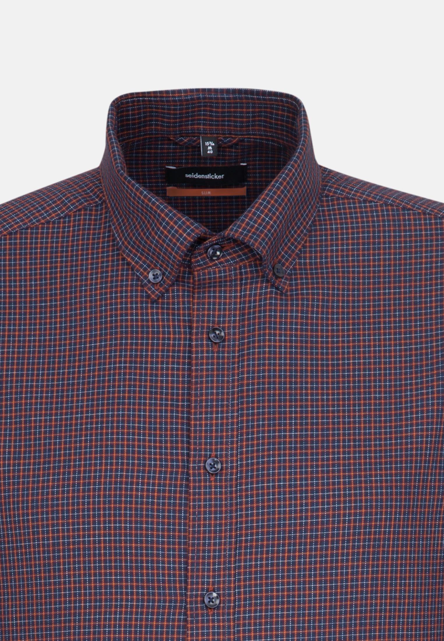 Easy-iron Twill Business Shirt in Slim with Button-Down-Collar in rot |  Seidensticker Onlineshop