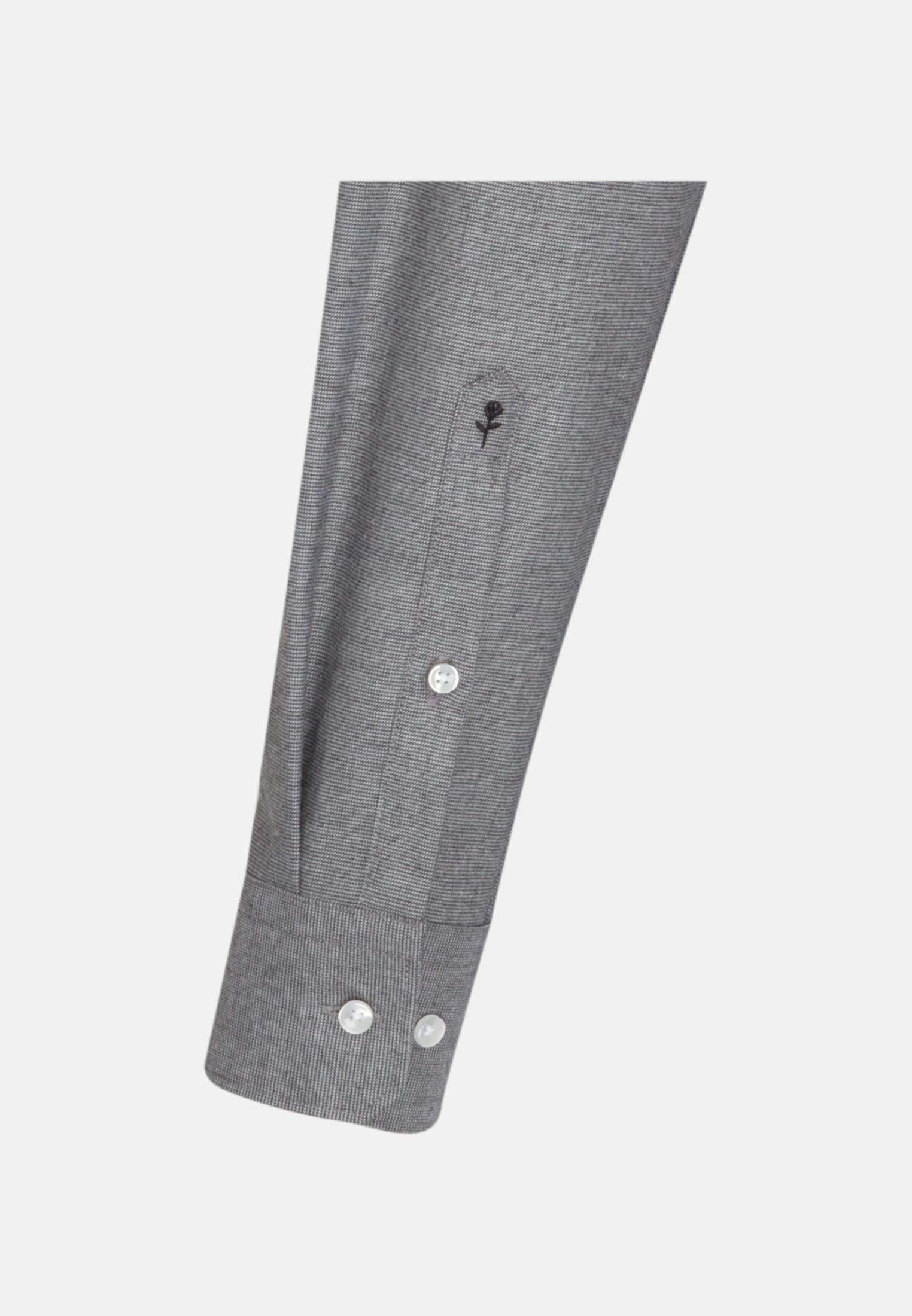 Bügelleichtes Struktur Business Hemd in Modern mit Kentkragen in Grau |  Seidensticker Onlineshop