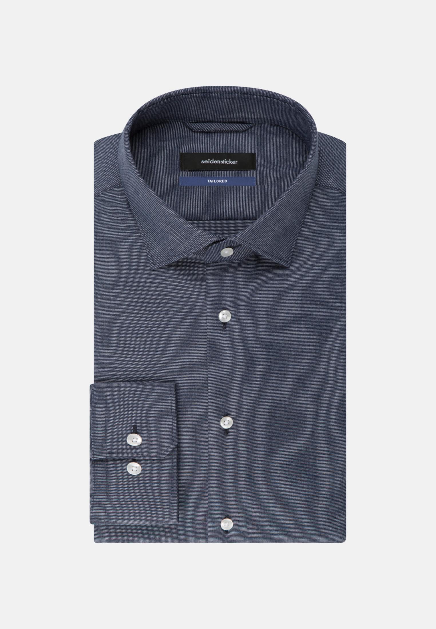 Easy-iron Structure Business Shirt in Tailored with Kent-Collar in blau    Seidensticker Onlineshop