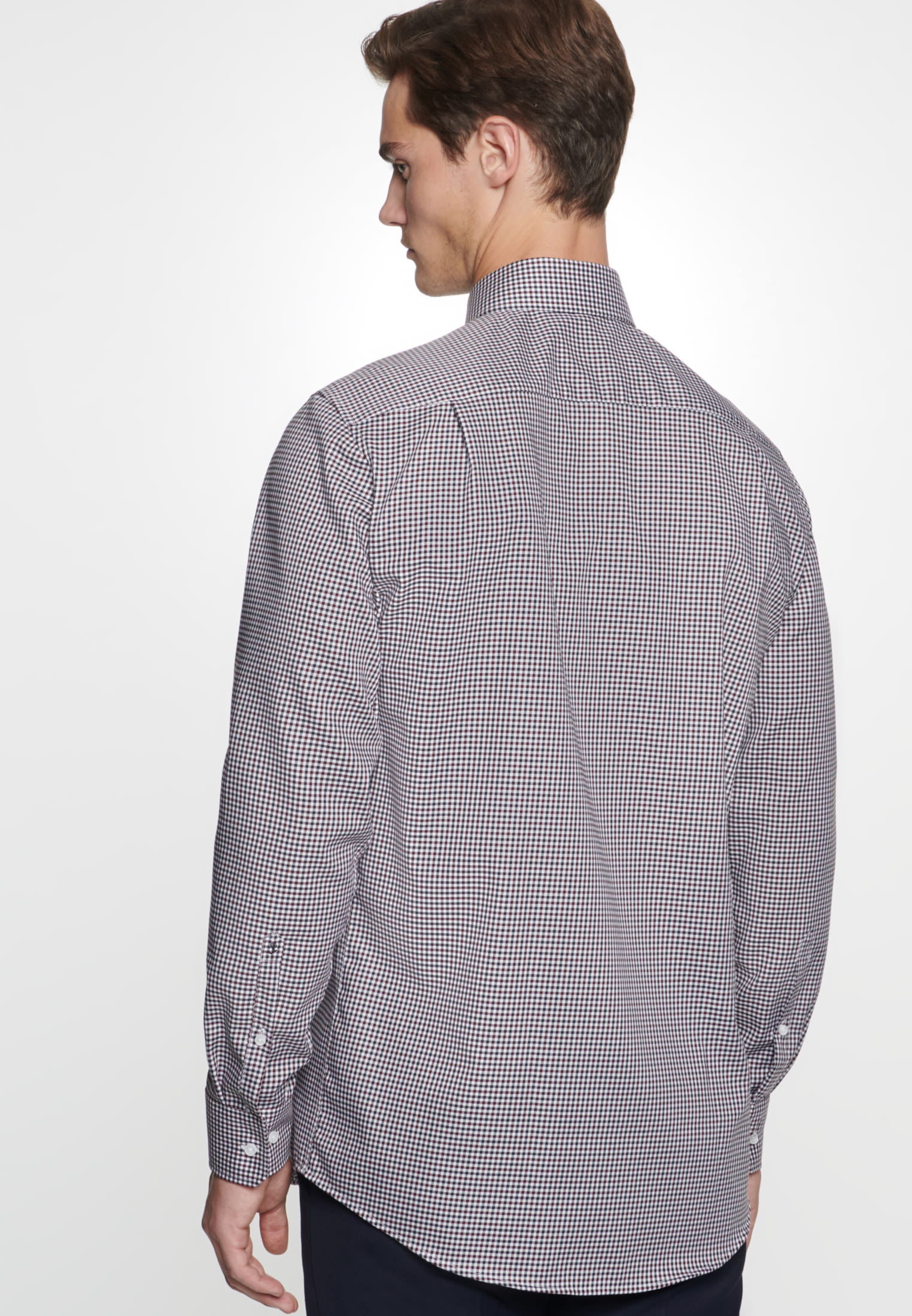 Non-iron Twill Business Shirt in Modern with Kent-Collar in Red |  Seidensticker Onlineshop