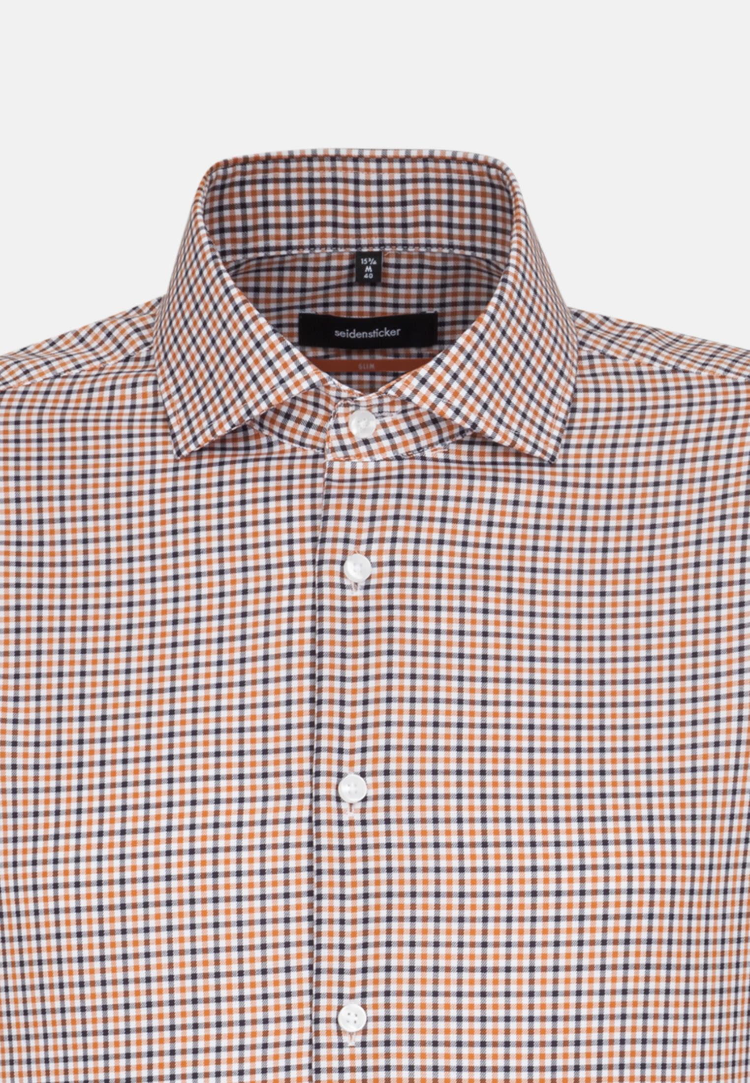 Bügelfreies Twill Business Hemd in Slim mit Kentkragen in Orange    Seidensticker Onlineshop