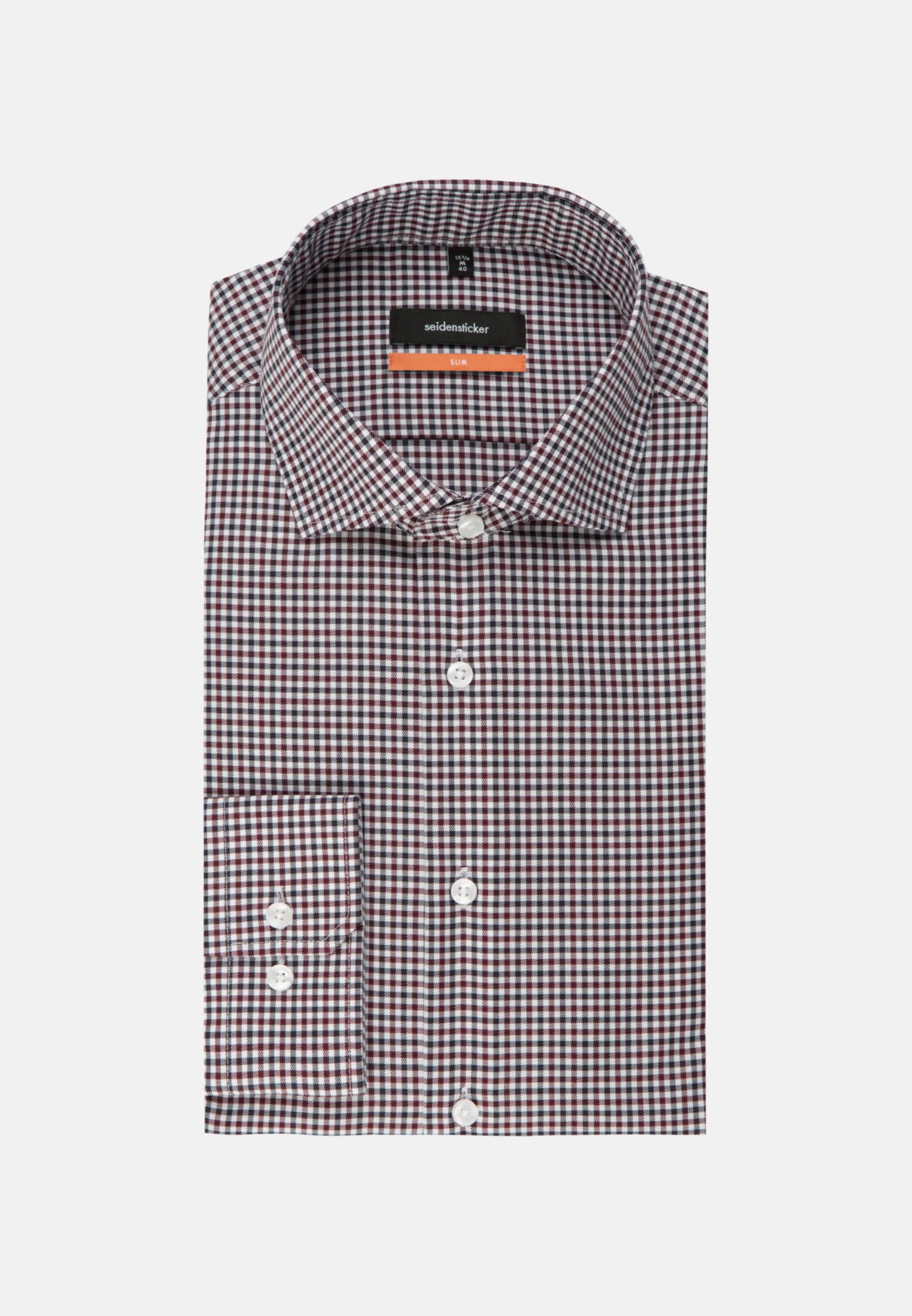 Non-iron Twill Business Shirt in Slim with Kent-Collar in rot |  Seidensticker Onlineshop