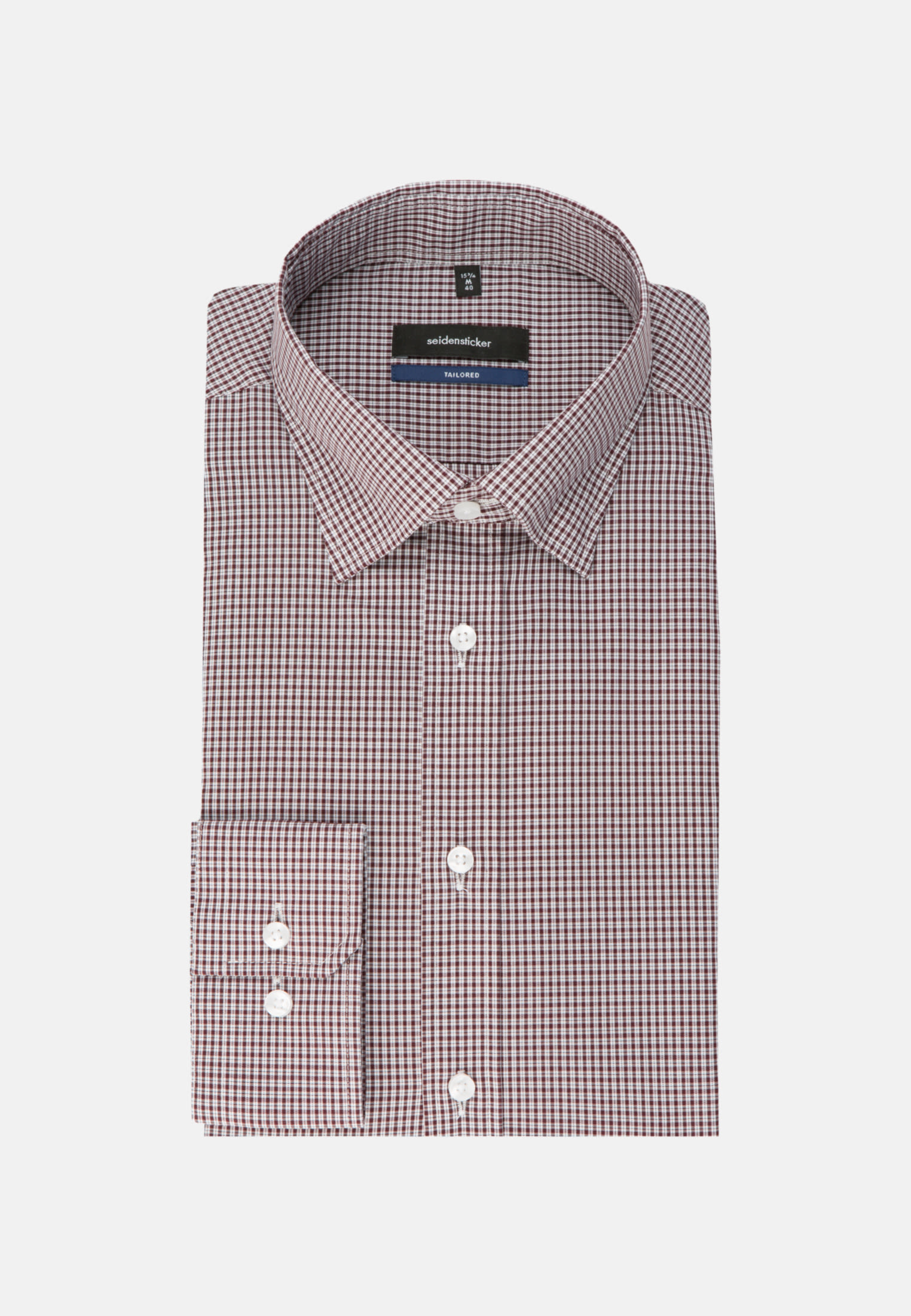 Non-iron Poplin Business Shirt in Tailored with Covered-Button-Down-Collar in Red |  Seidensticker Onlineshop