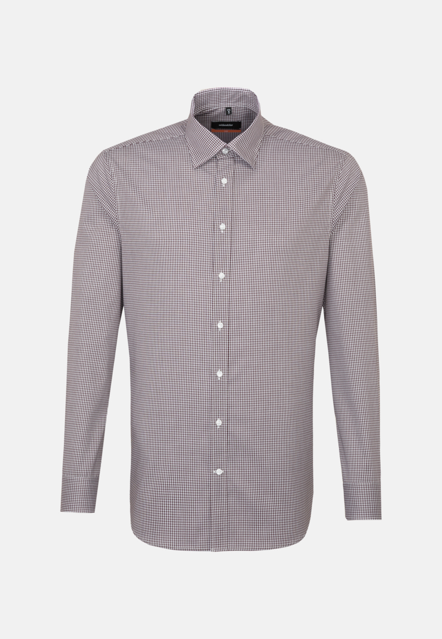 Non-iron Poplin Business Shirt in Slim with Covered-Button-Down-Collar in Red |  Seidensticker Onlineshop