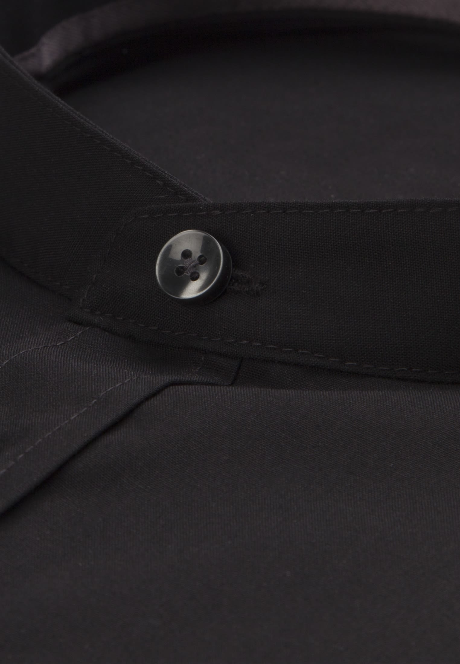 Non-iron Poplin Business Shirt in Slim with Stand-Up Collar in schwarz |  Seidensticker Onlineshop