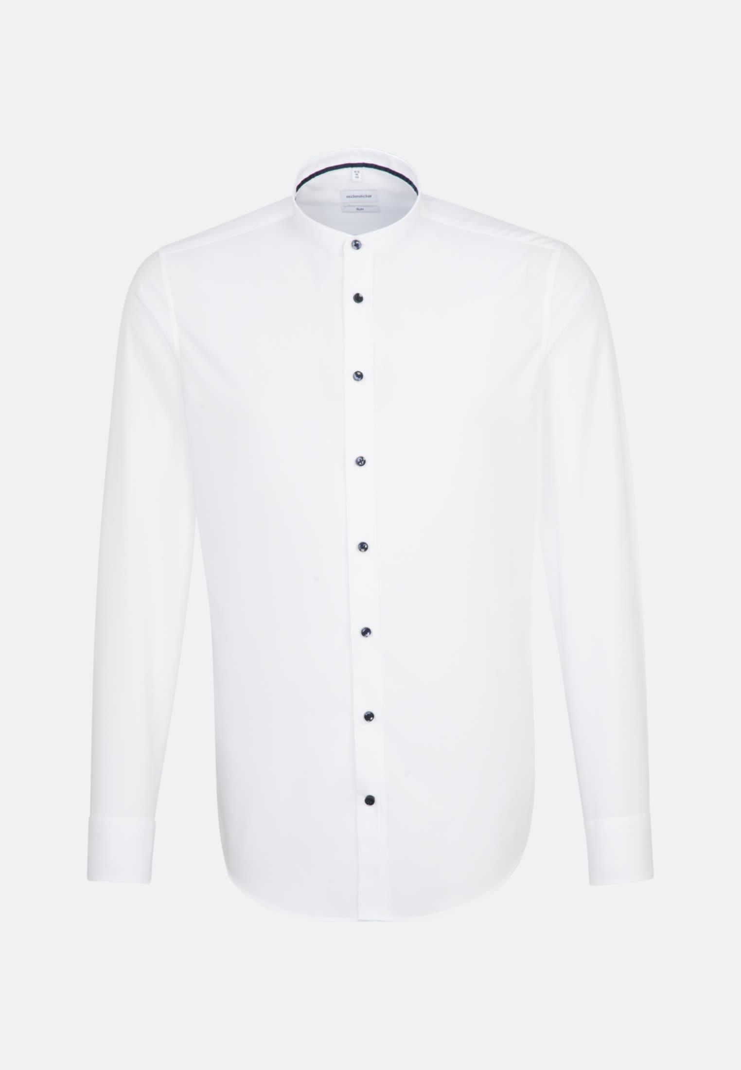 Non-iron Poplin Business Shirt in Slim with Stand-Up Collar in White |  Seidensticker Onlineshop