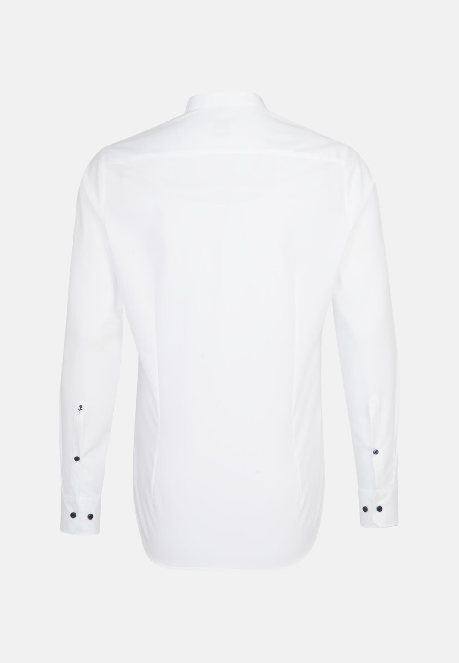 Bügelfreies Popeline Business Hemd in Slim mit Stehkragen in Weiß |  Seidensticker Onlineshop