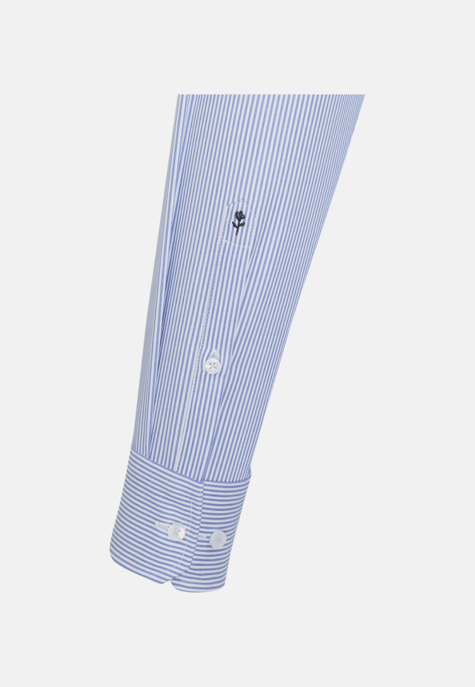 Bügelfreies Twill Business Hemd in Slim mit Kentkragen und extra langem Arm in Hellblau |  Seidensticker Onlineshop