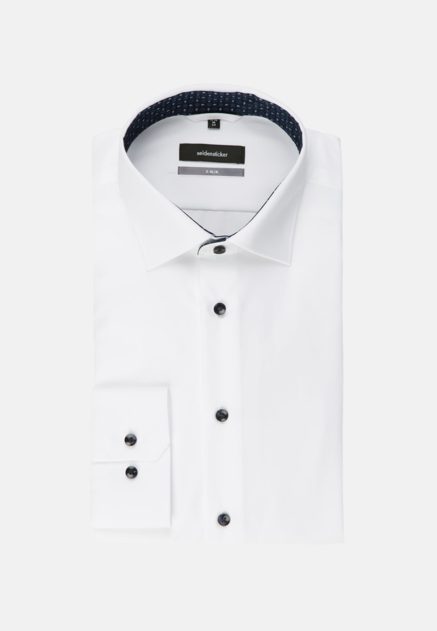 Non-iron Poplin Business Shirt in X-Slim with Kent-Collar in White |  Seidensticker Onlineshop