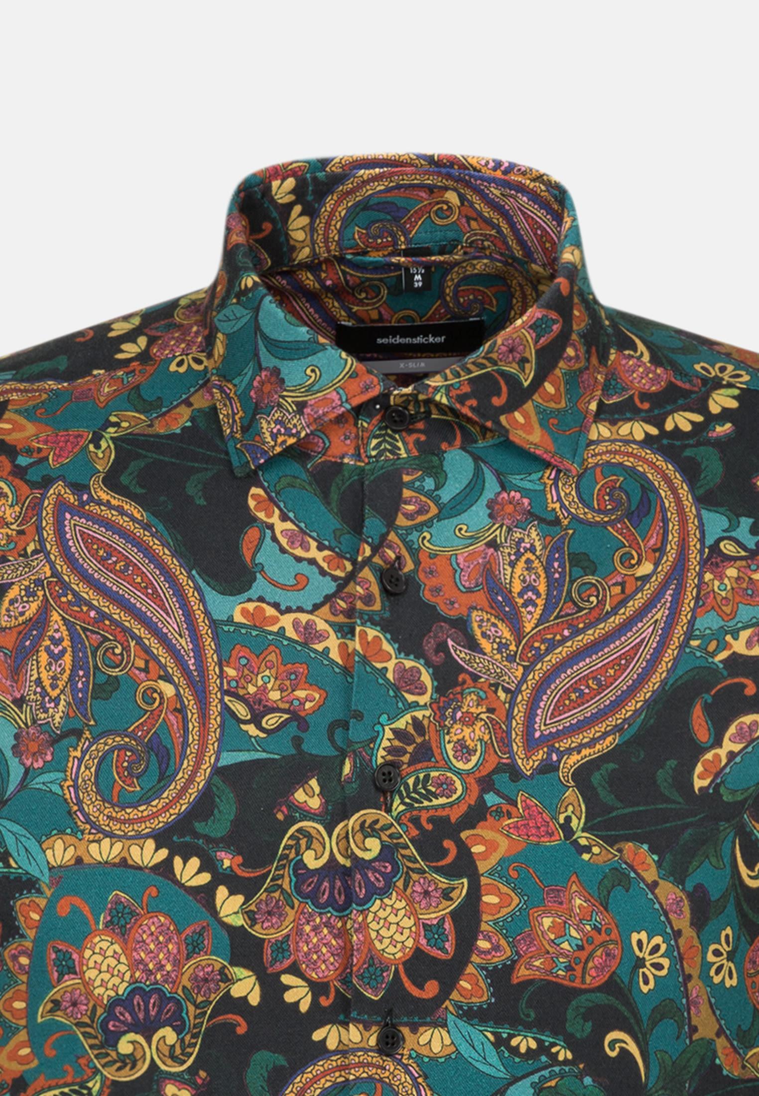 Easy-iron Twill Business Shirt in X-Slim with Kent-Collar in orange |  Seidensticker Onlineshop