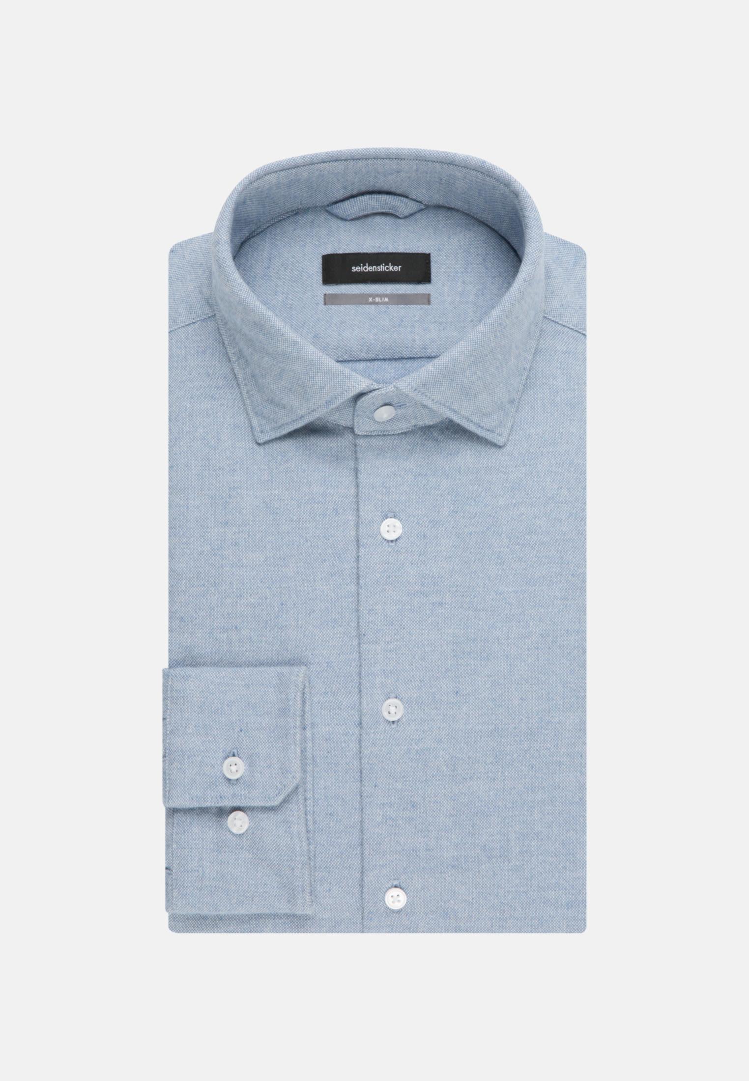 Easy-iron Oxford Business Shirt in X-Slim with Kent-Collar in blau |  Seidensticker Onlineshop
