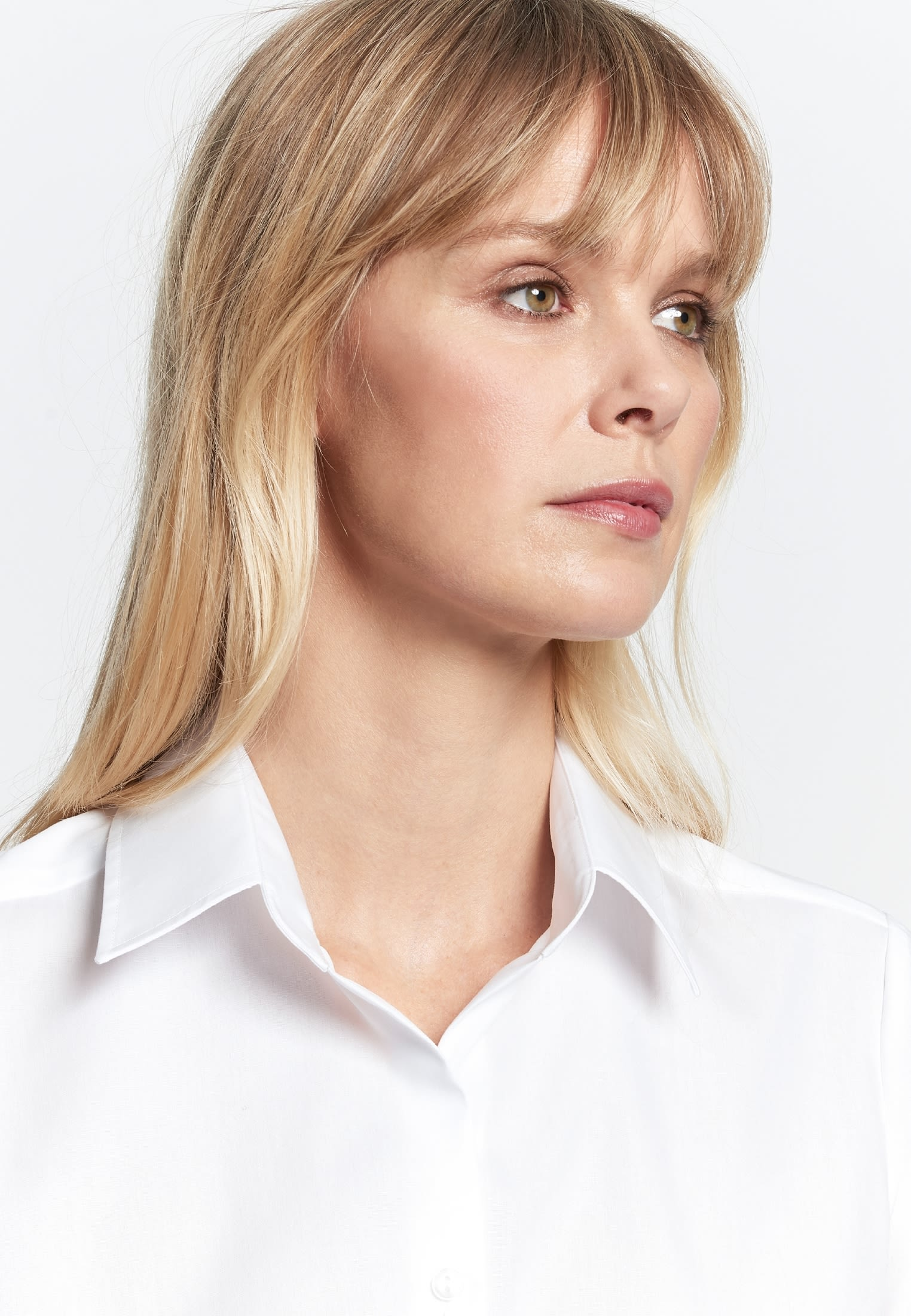 Non-iron Short arm Fil a fil Shirt Blouse made of 100% Cotton in White |  Seidensticker Onlineshop
