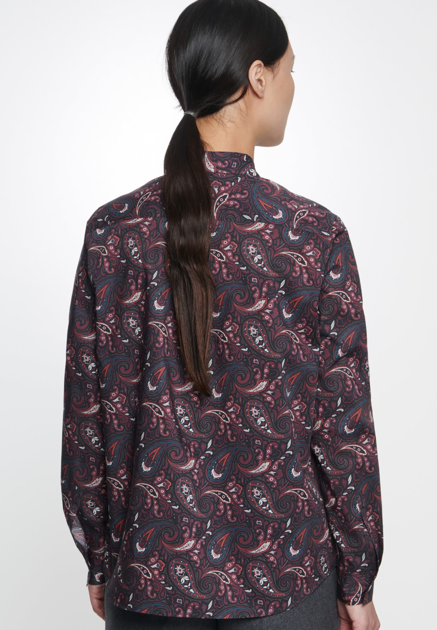 Poplin Shirt Blouse made of 100% Cotton in blau |  Seidensticker Onlineshop