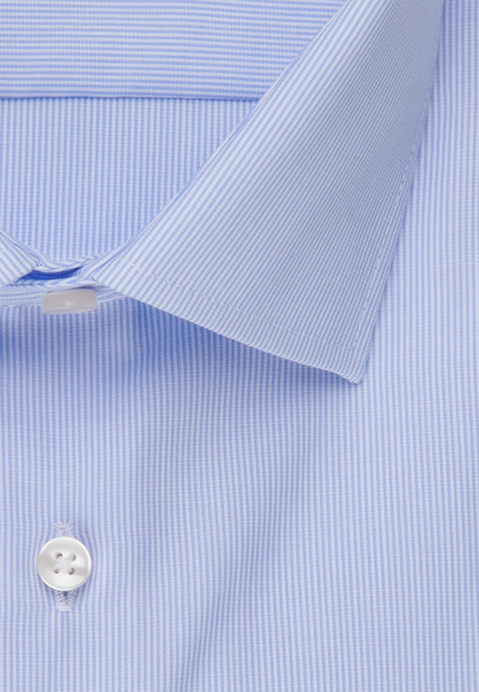 Non-iron Poplin Business Shirt in Tailored with Kent-Collar in hellblau |  Seidensticker Onlineshop