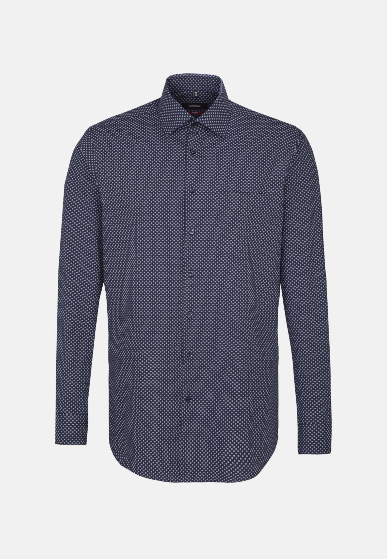 Easy-iron Poplin Business Shirt in Modern with Kent-Collar in blau |  Seidensticker Onlineshop