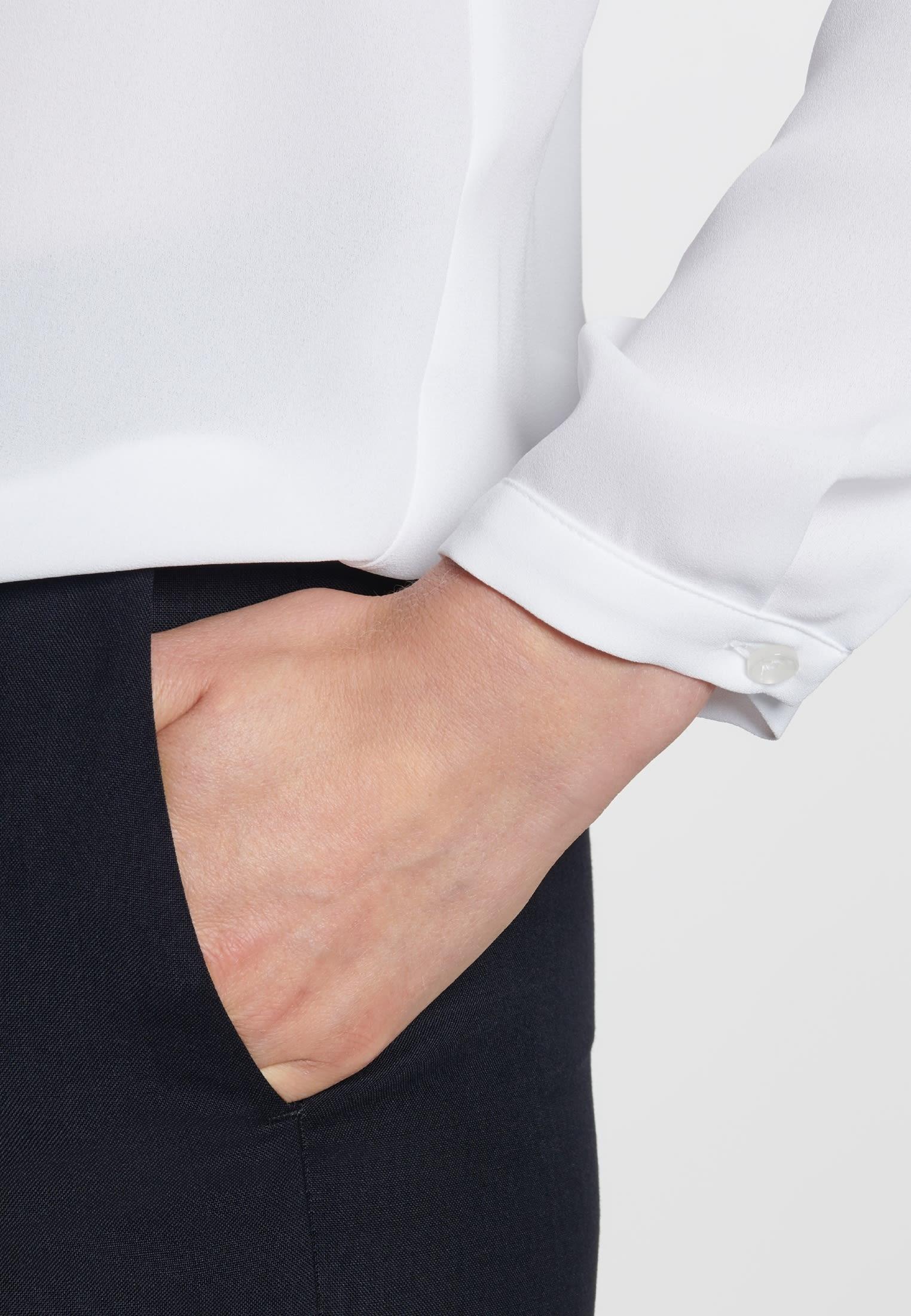 Krepp Shirtbluse aus 100% Polyester in Weiß |  Seidensticker Onlineshop