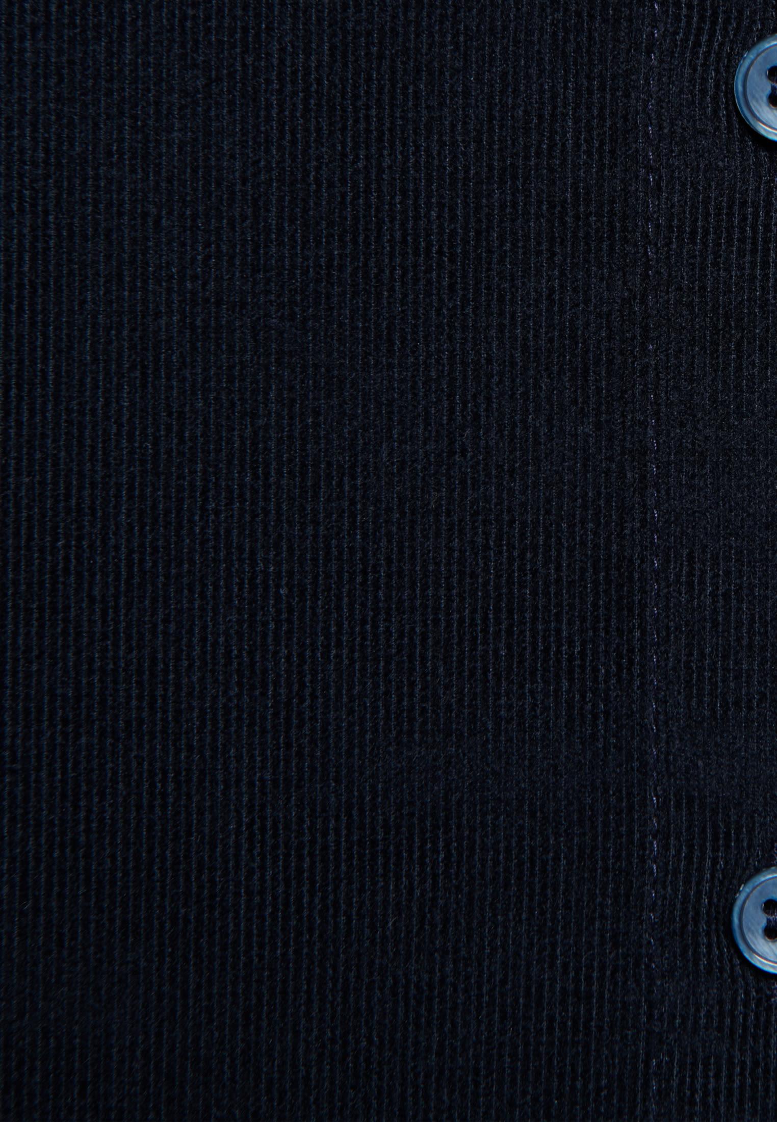 Cord Stehkragenbluse aus 100% Baumwolle in Dunkelblau |  Seidensticker Onlineshop
