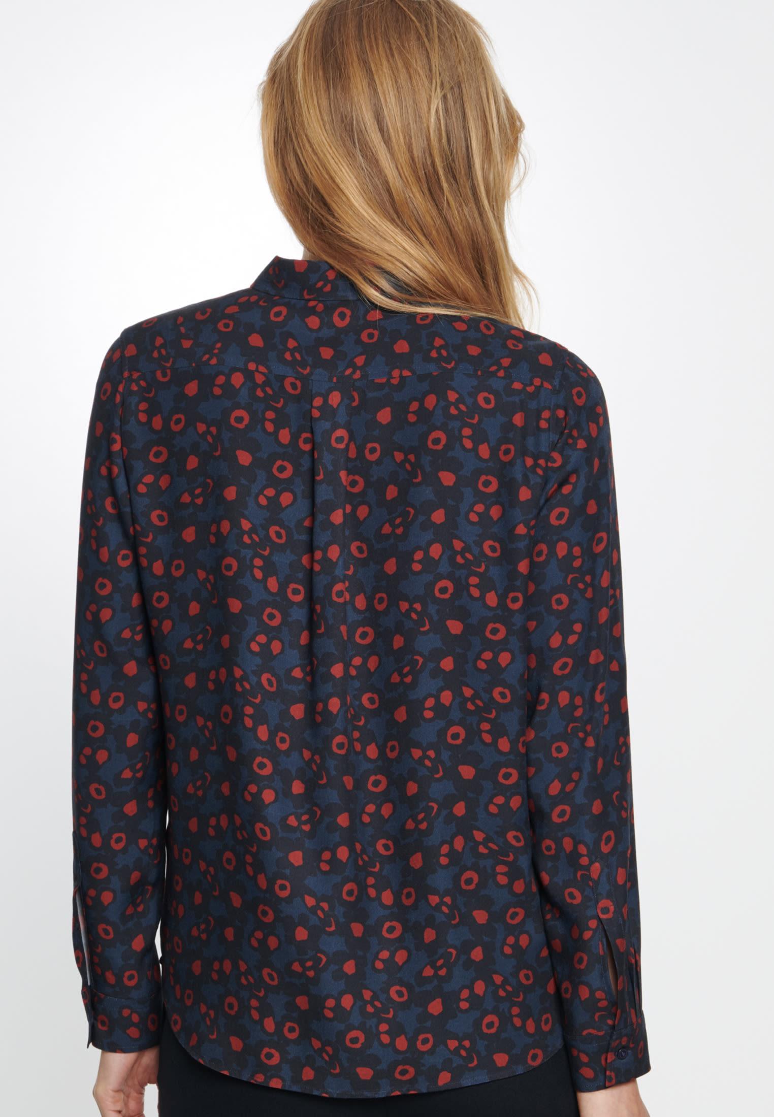 Twill Shirt Blouse made of 100% Viskose in Dark Sapphire |  Seidensticker Onlineshop