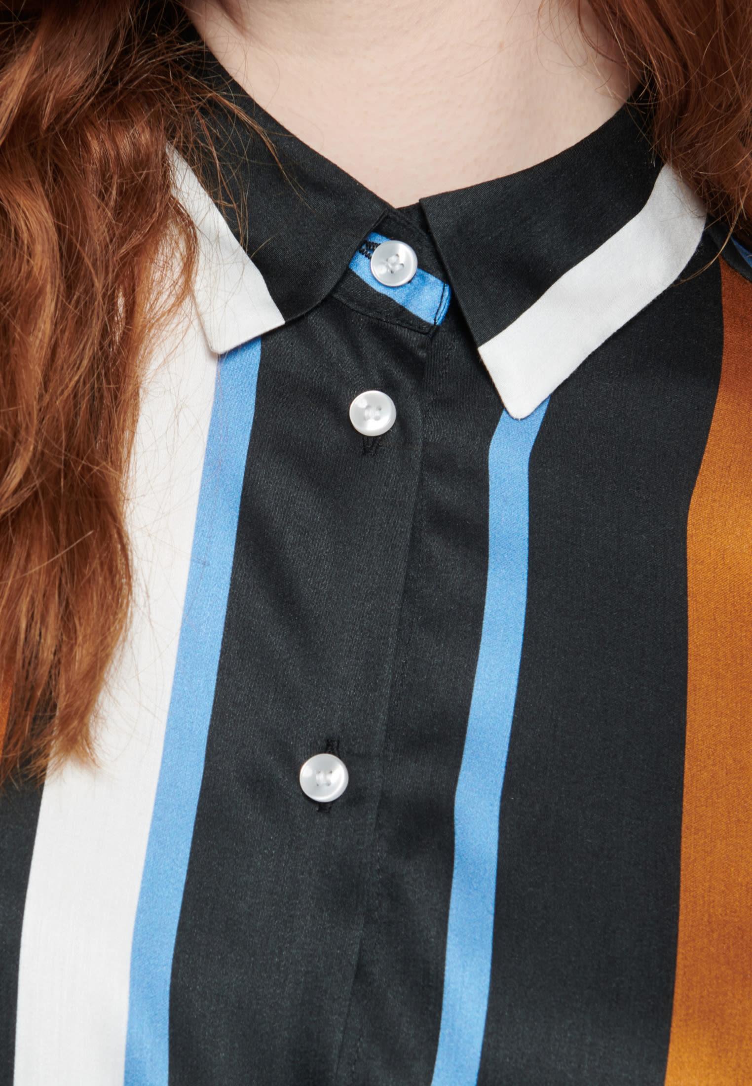 Satin Shirt Blouse made of 100% Viskose in blau |  Seidensticker Onlineshop