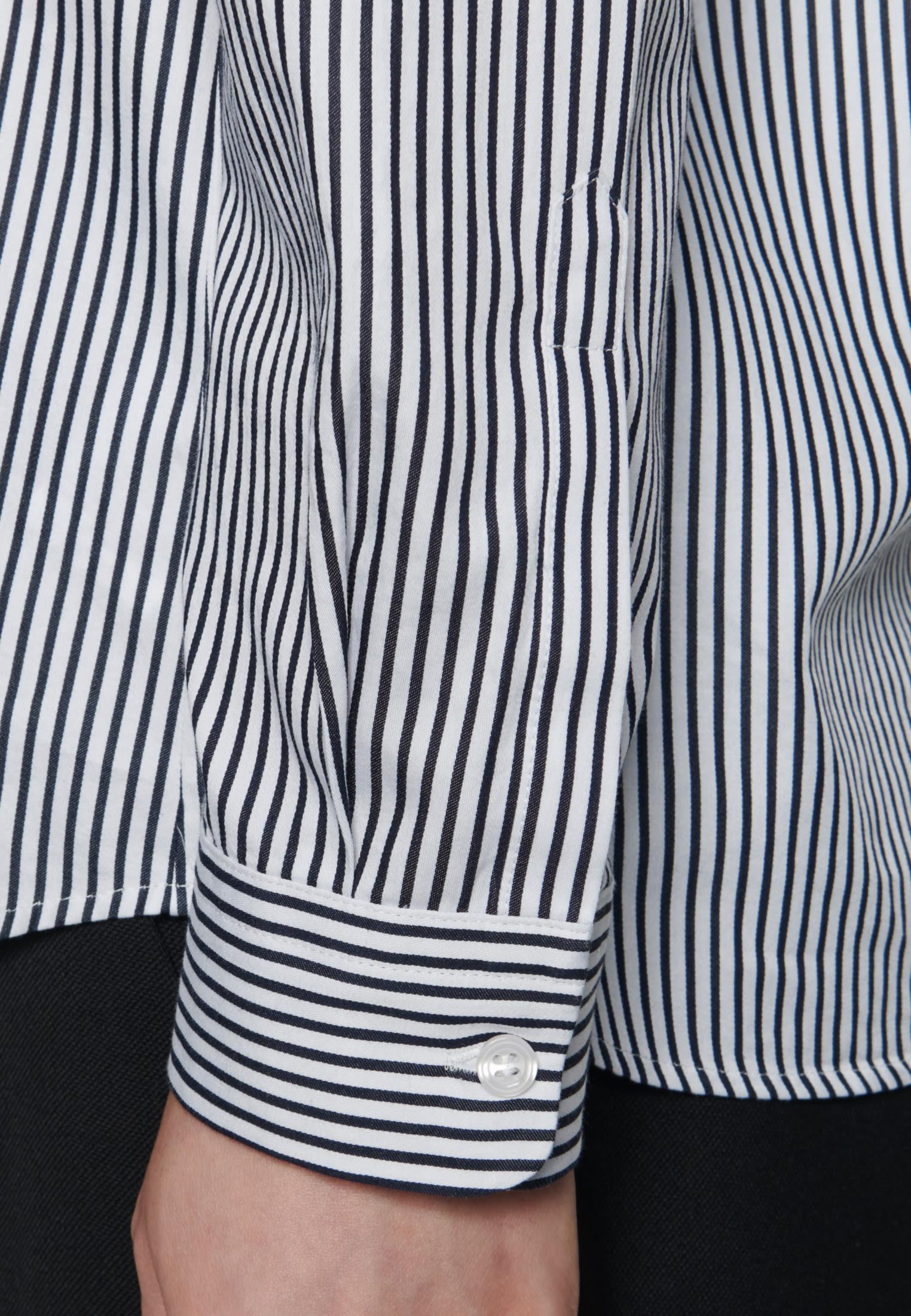 Satin Hemdbluse aus 100% Baumwolle in Ecru |  Seidensticker Onlineshop