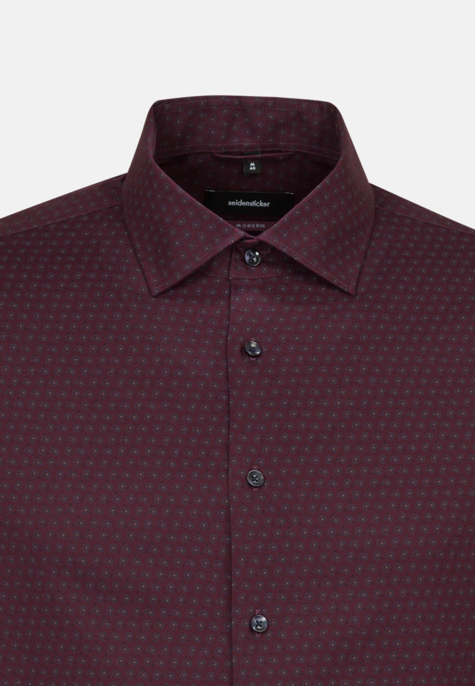 Bügelleichtes Twill Business Hemd in Modern mit Kentkragen in Rot |  Seidensticker Onlineshop