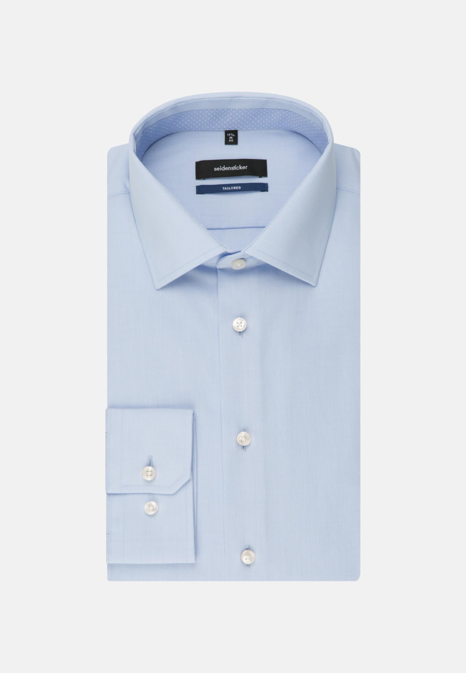 Bügelfreies Popeline Business Hemd in Tailored mit Kentkragen in Hellblau |  Seidensticker Onlineshop