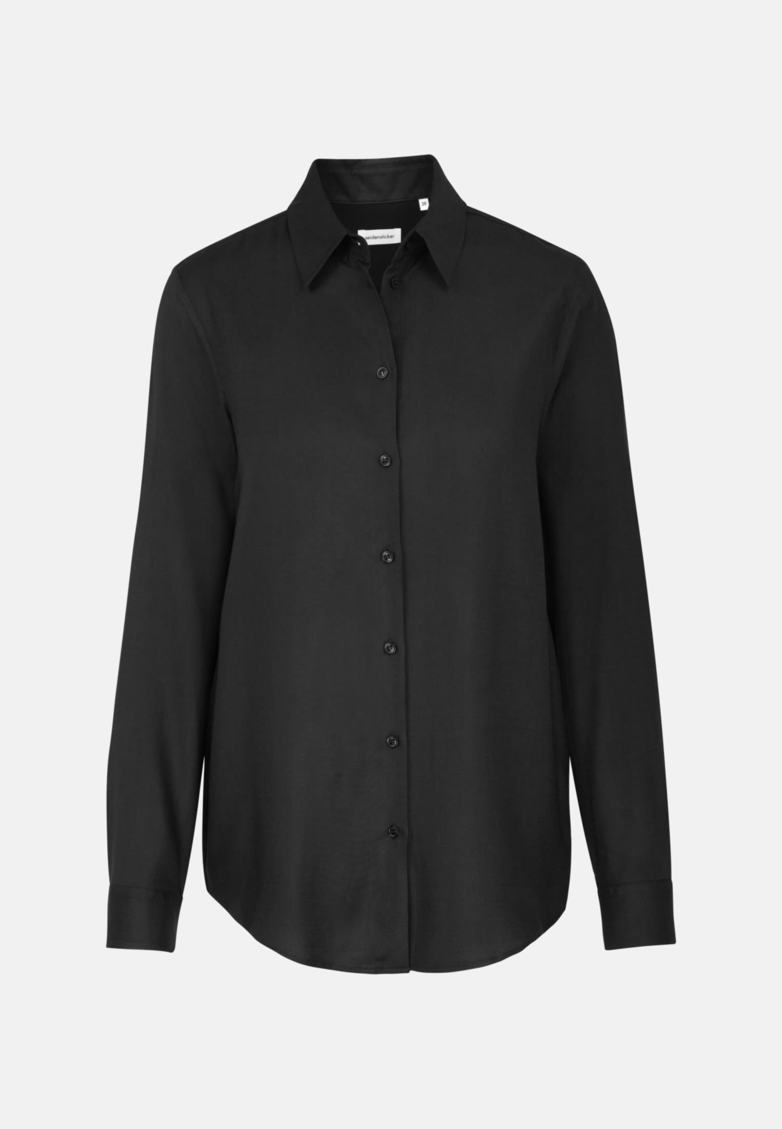 Twill Hemdbluse aus 100% Viskose in Schwarz |  Seidensticker Onlineshop