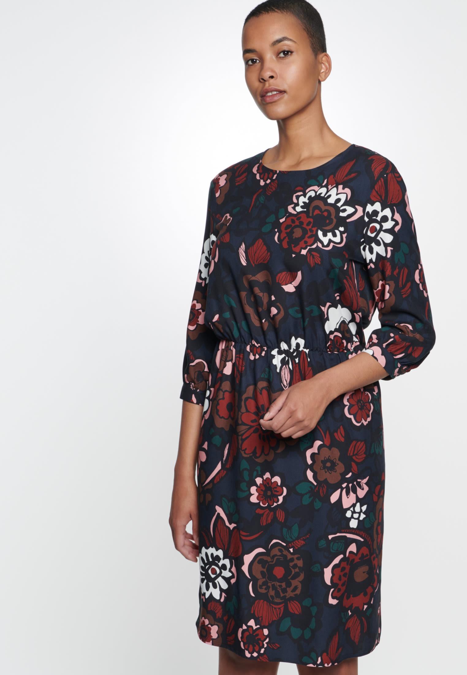 Twill Midi Kleid aus 13% Viskose