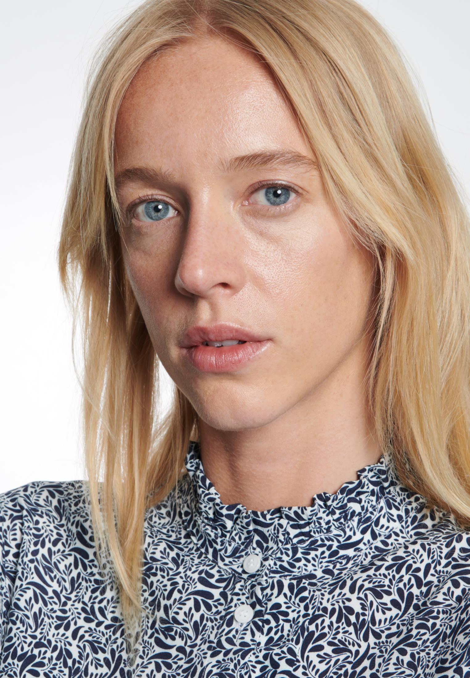Krepp Midi Kleid aus 100% Viskose in Ecru |  Seidensticker Onlineshop