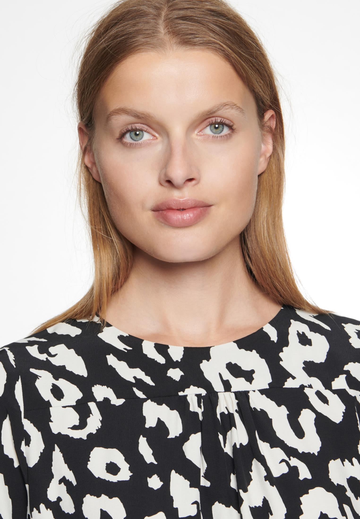 Crepe Midi Dress made of 100% Viscose in Black |  Seidensticker Onlineshop