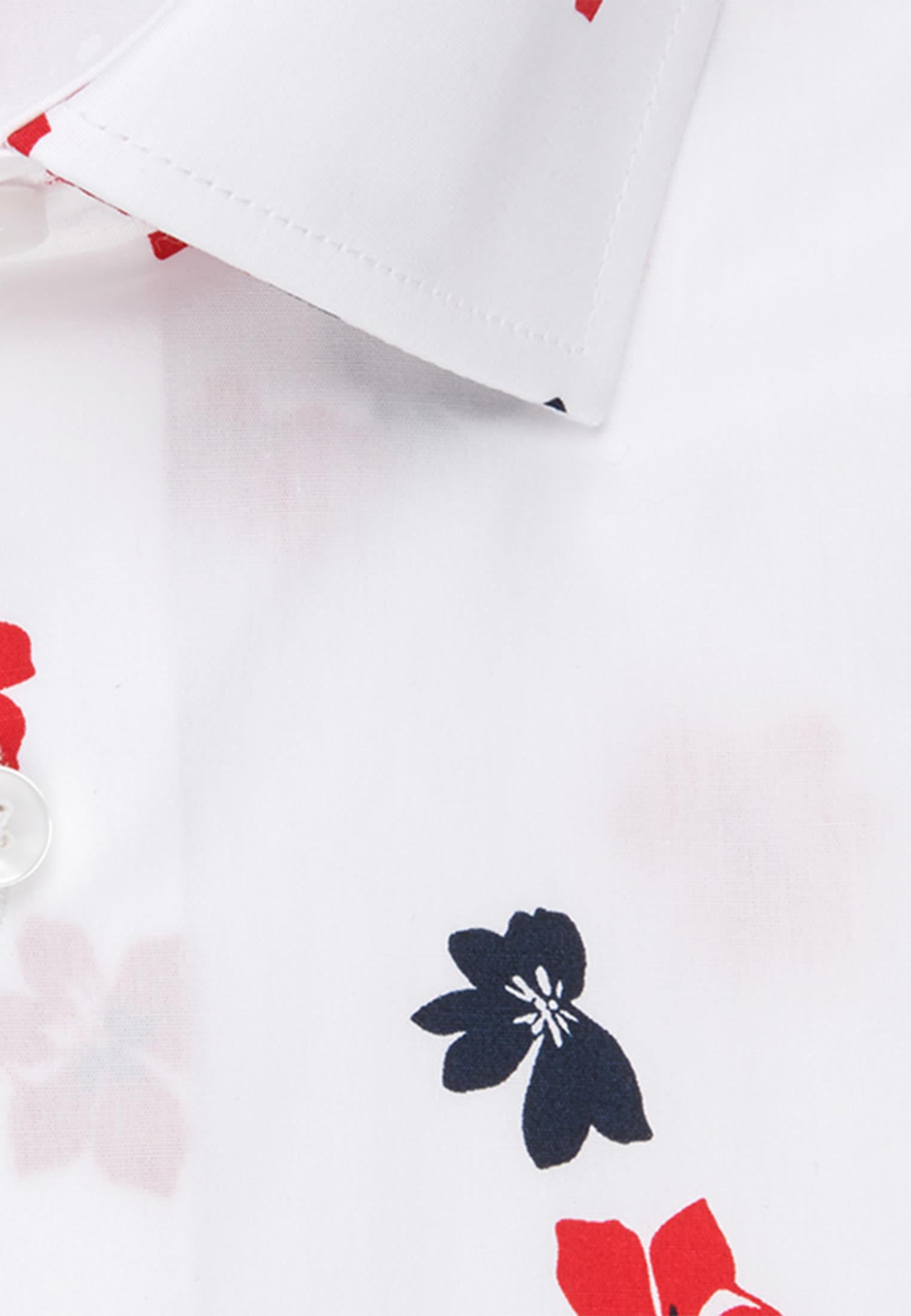Bügelleichtes Popeline Business Hemd in Modern mit Kentkragen in Rot |  Seidensticker Onlineshop